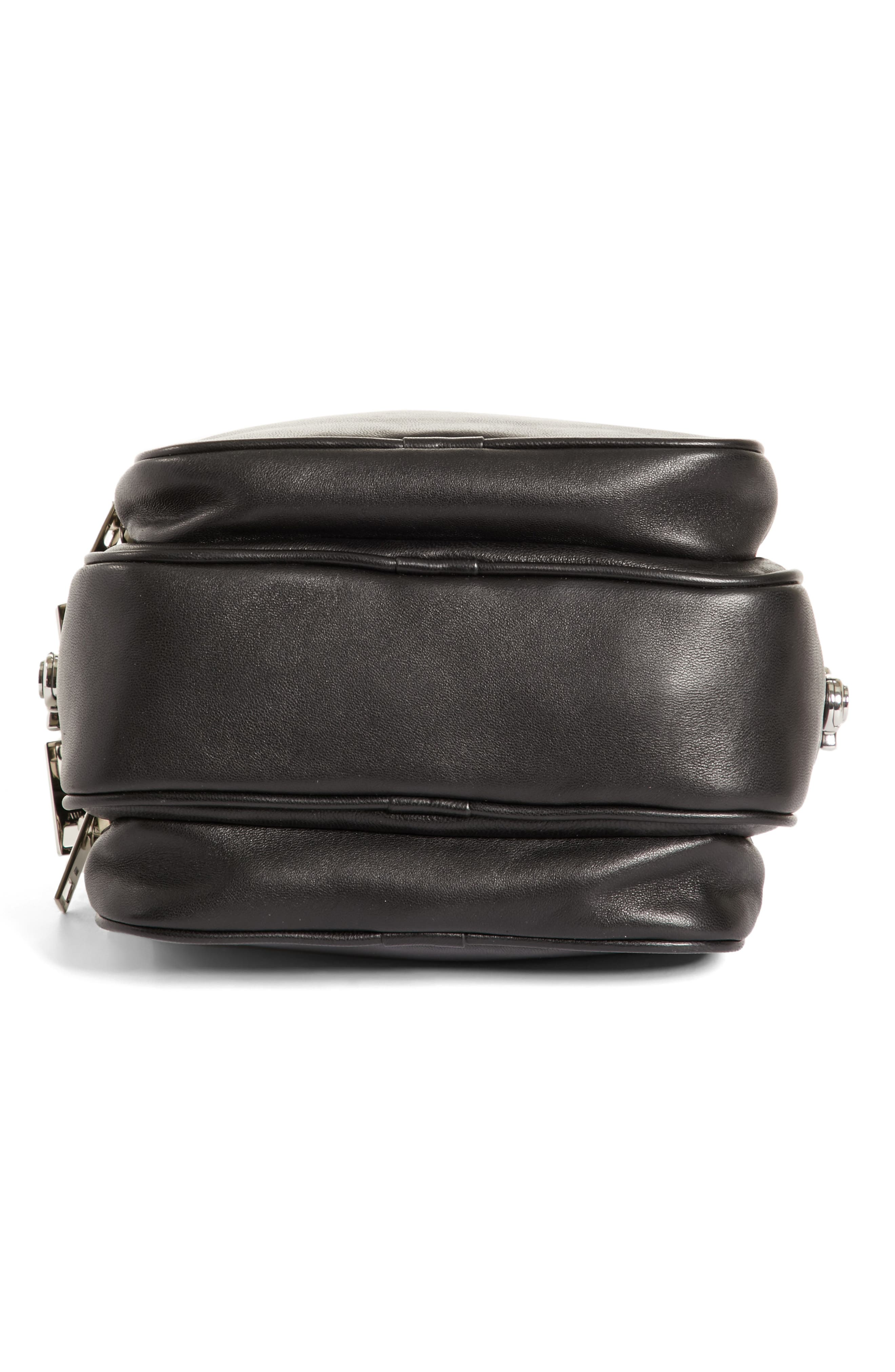 Large Attica Leather Crossbody Bag,                             Alternate thumbnail 6, color,                             Black