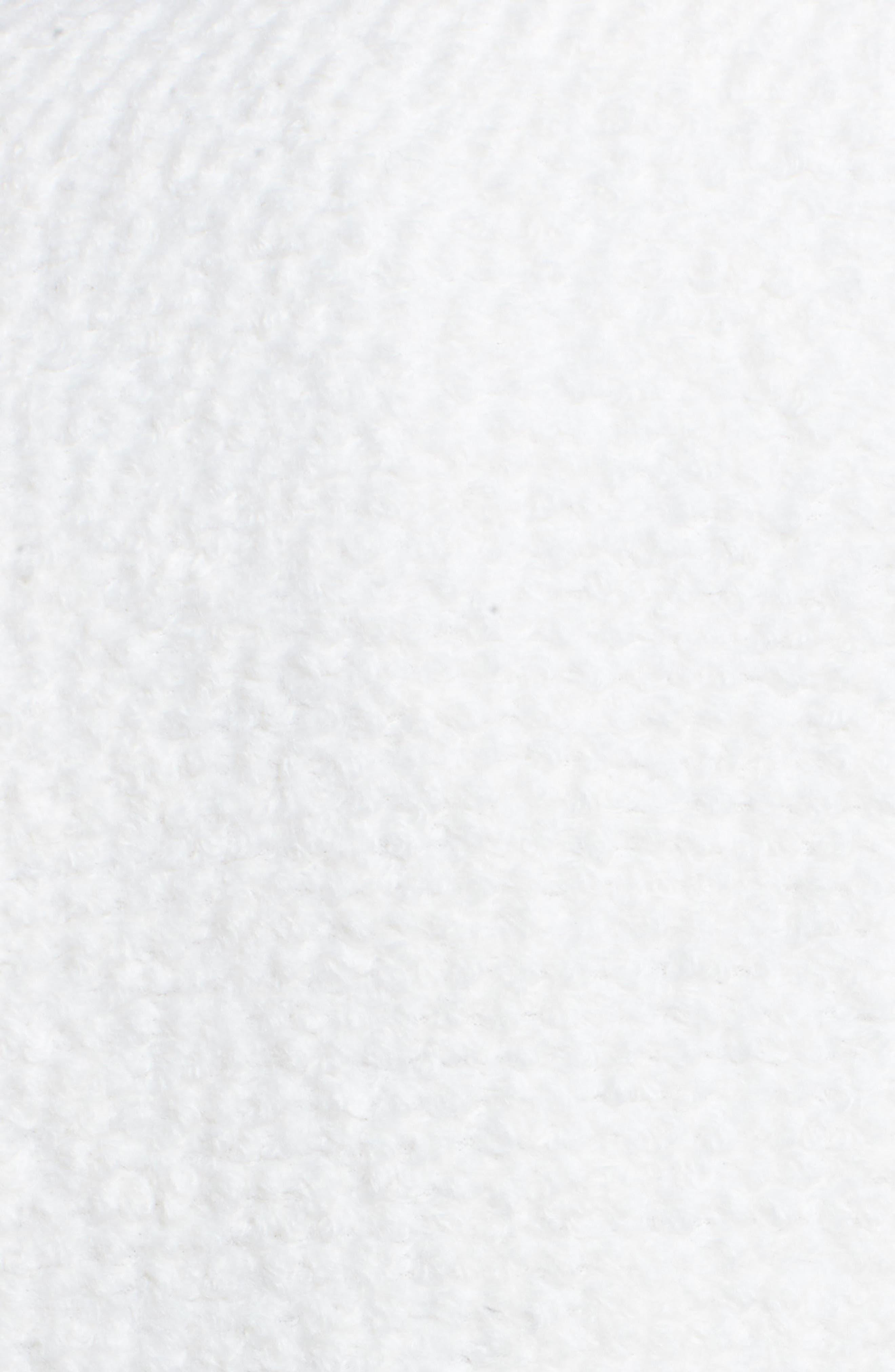 Notch Collar Bouclé Car Coat,                             Alternate thumbnail 5, color,                             Winter White
