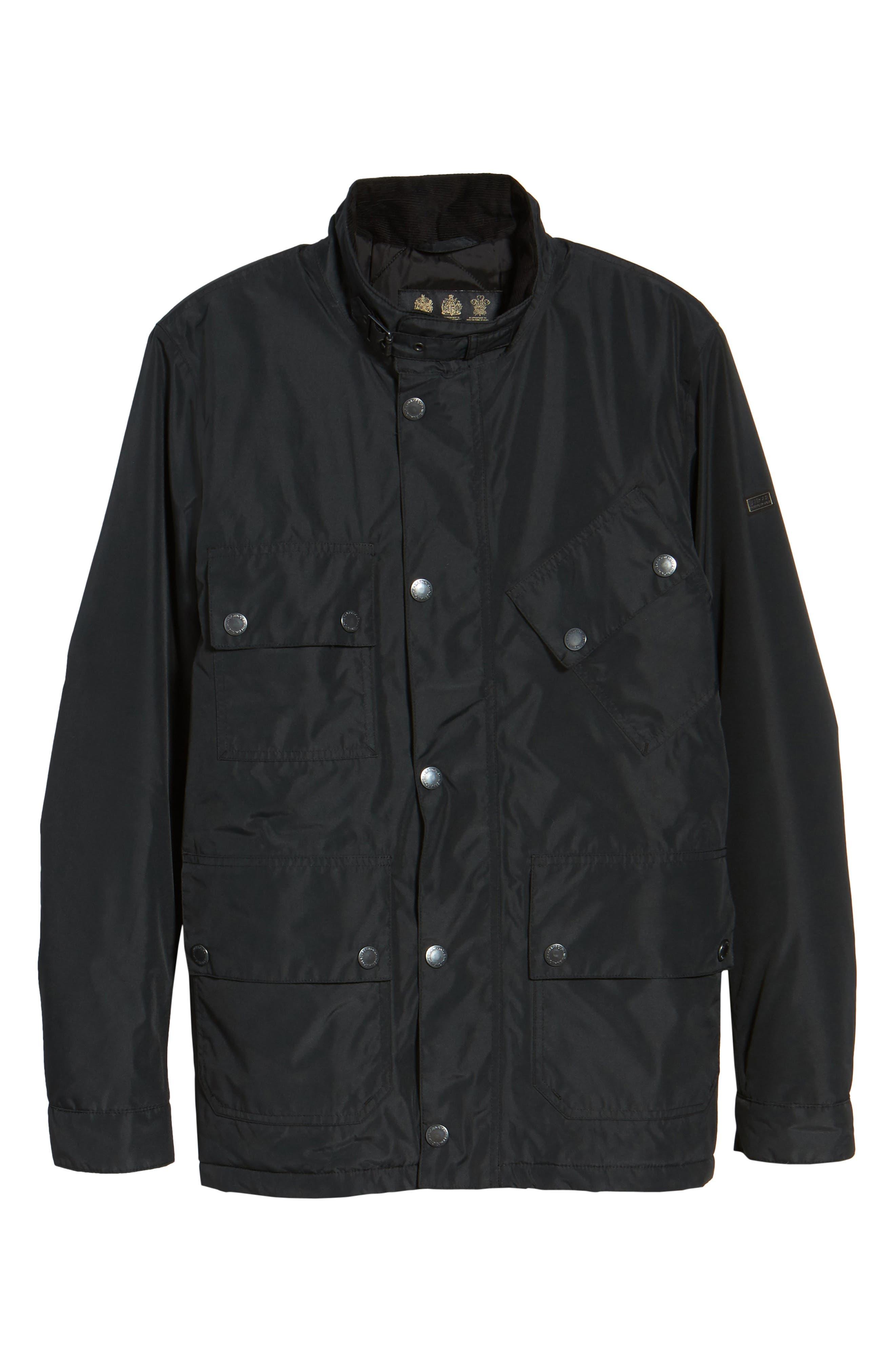 B.Intl Tyne Waterproof Jacket,                             Alternate thumbnail 6, color,                             Black