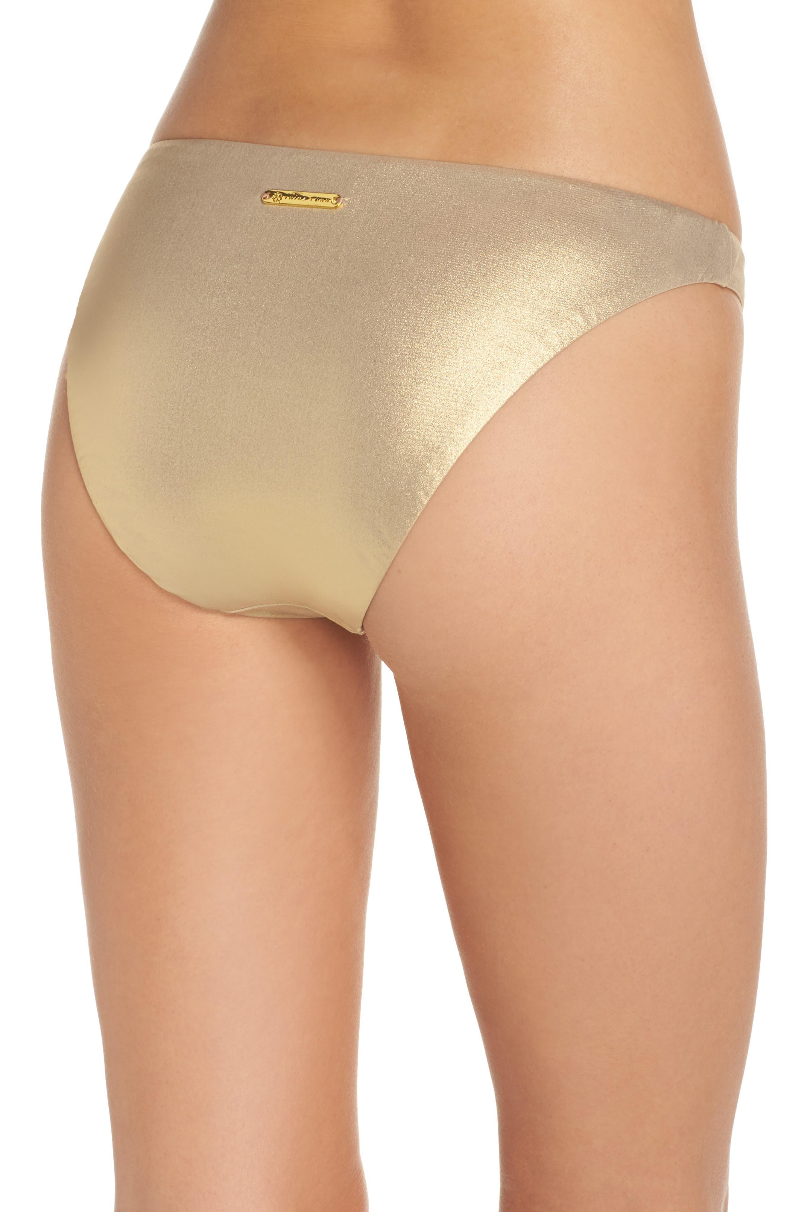 Golden Medallion Bikini Bottoms,                             Alternate thumbnail 2, color,                             Gold