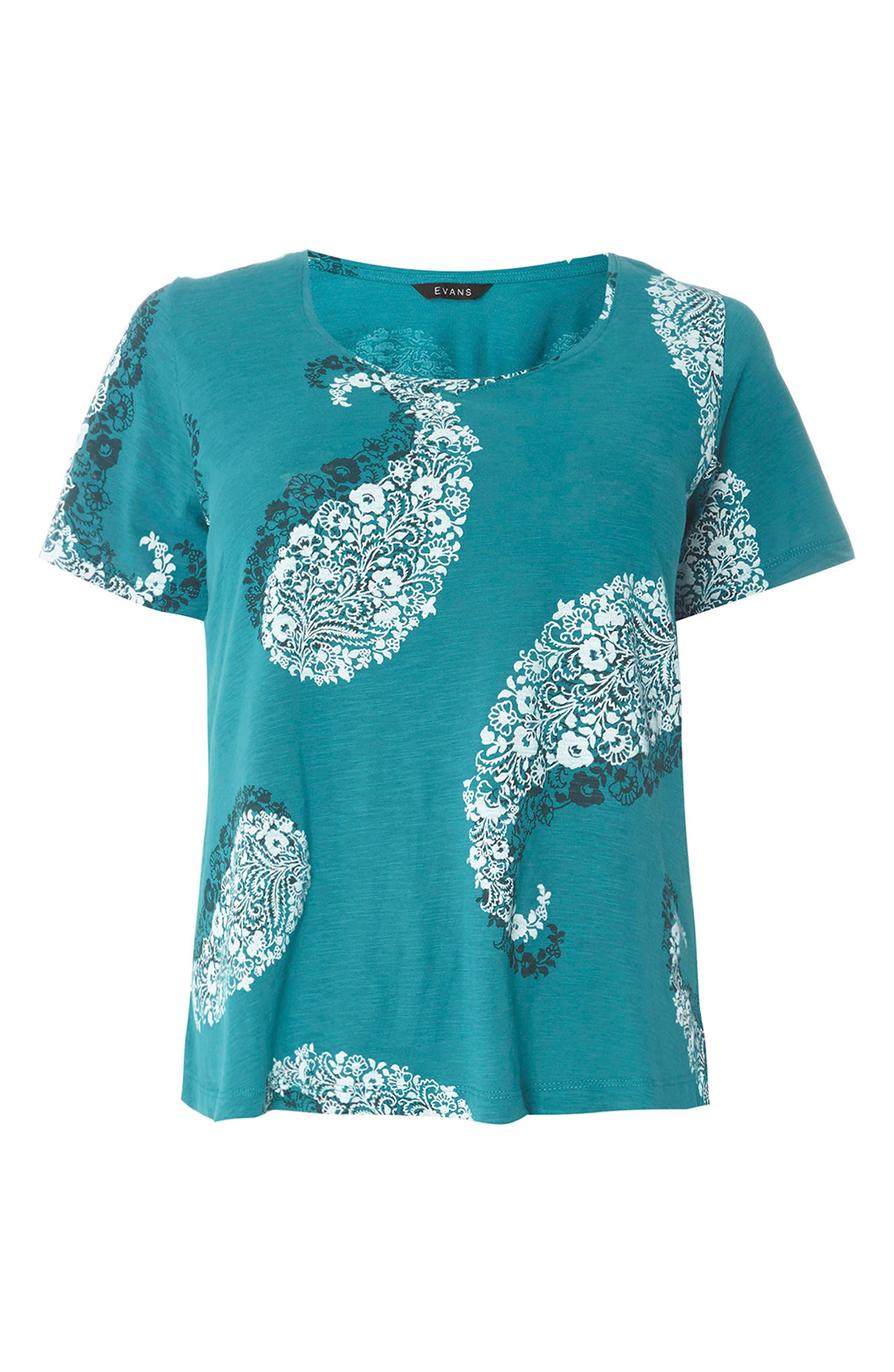 Alternate Image 5  - Evan Paisley Short Sleeve Shirt (Plus Size)