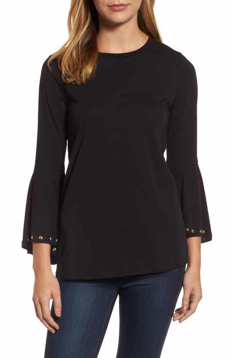 MICHAEL Michael Kors High/Low Bell Sleeve Top