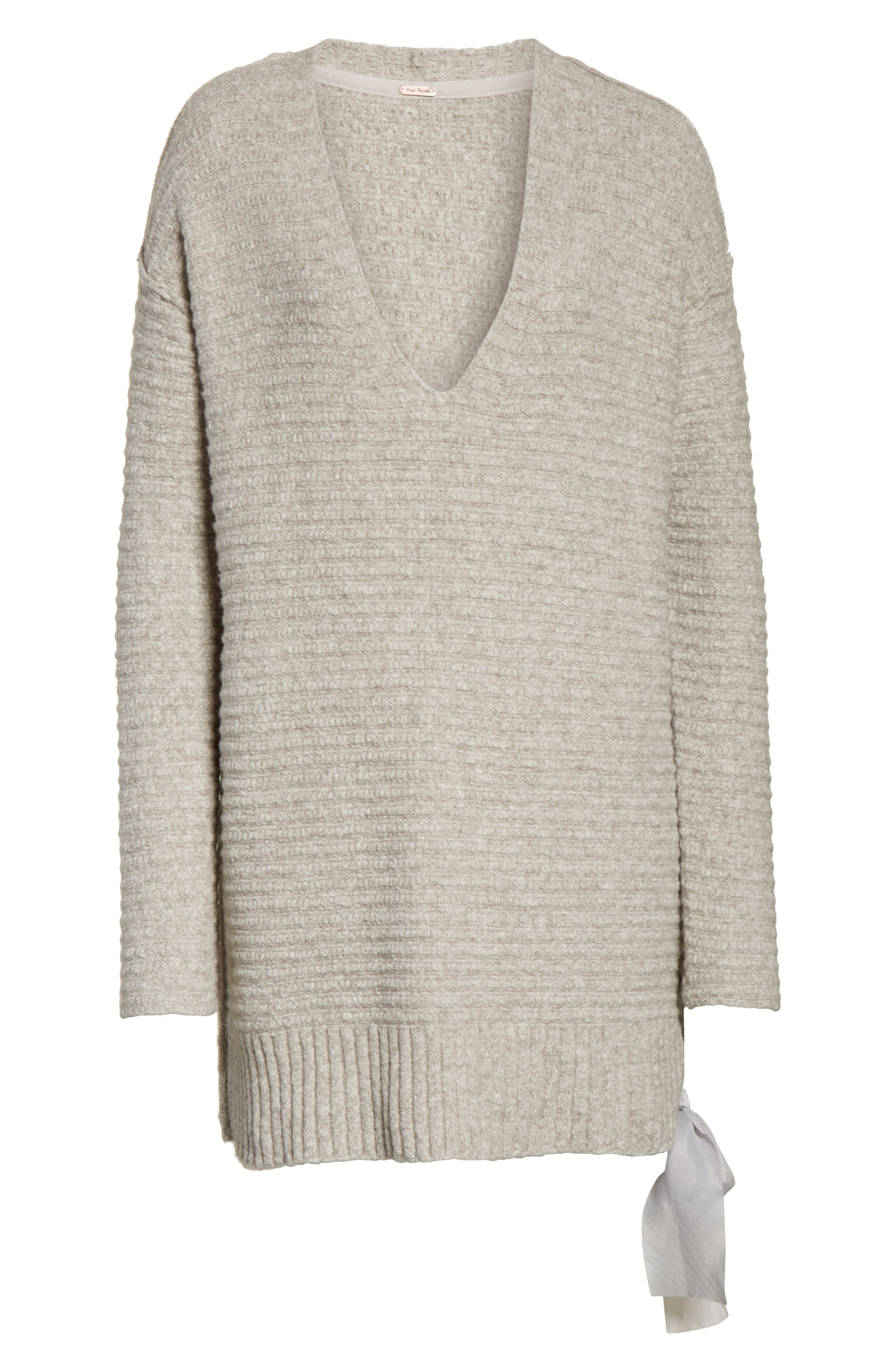 Heart It Laces Sweater,                             Alternate thumbnail 6, color,                             Grey