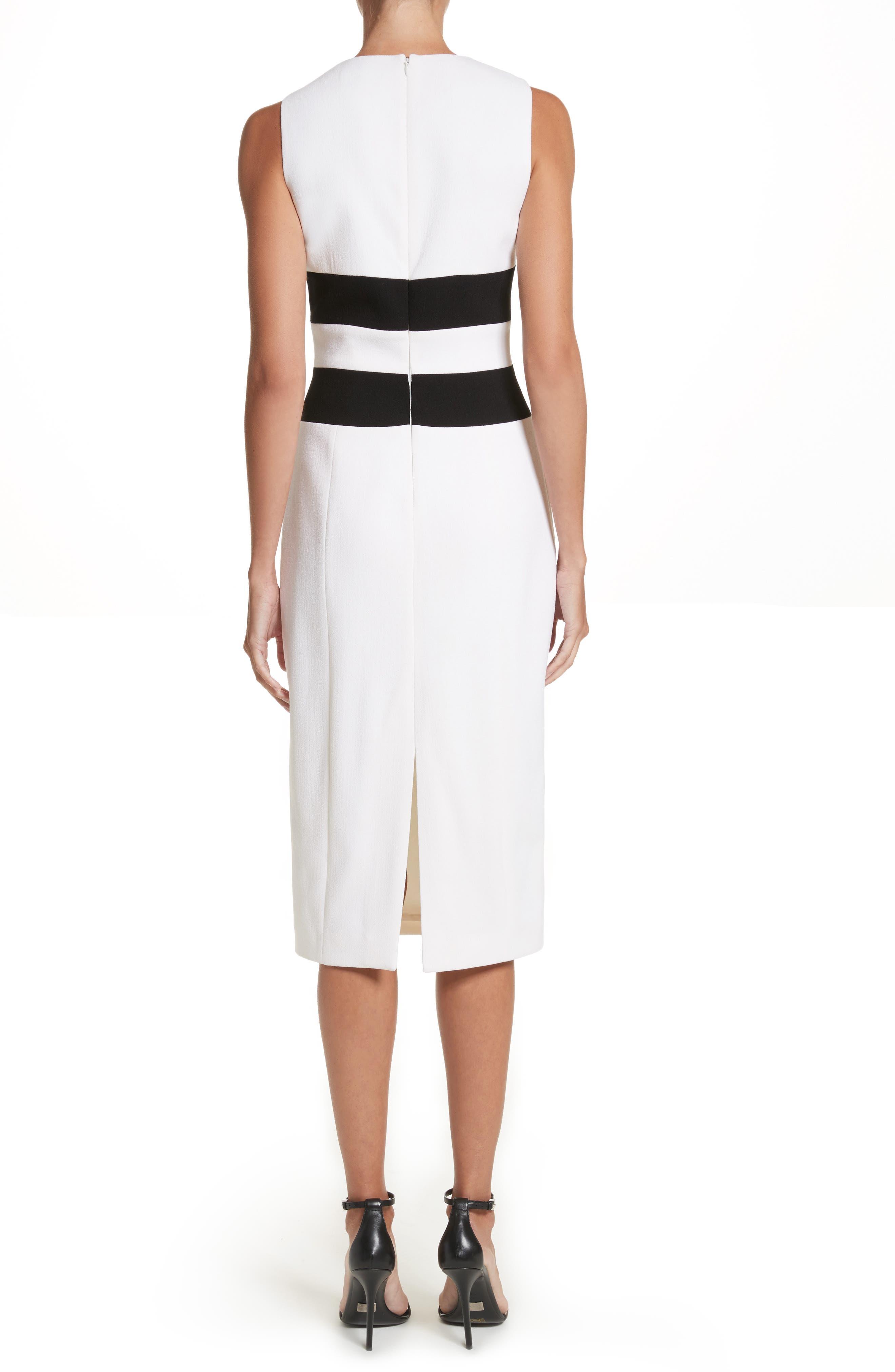 Alternate Image 3  - Michael Kors Contrast Stretch Bouclé Crepe Sheath Dress