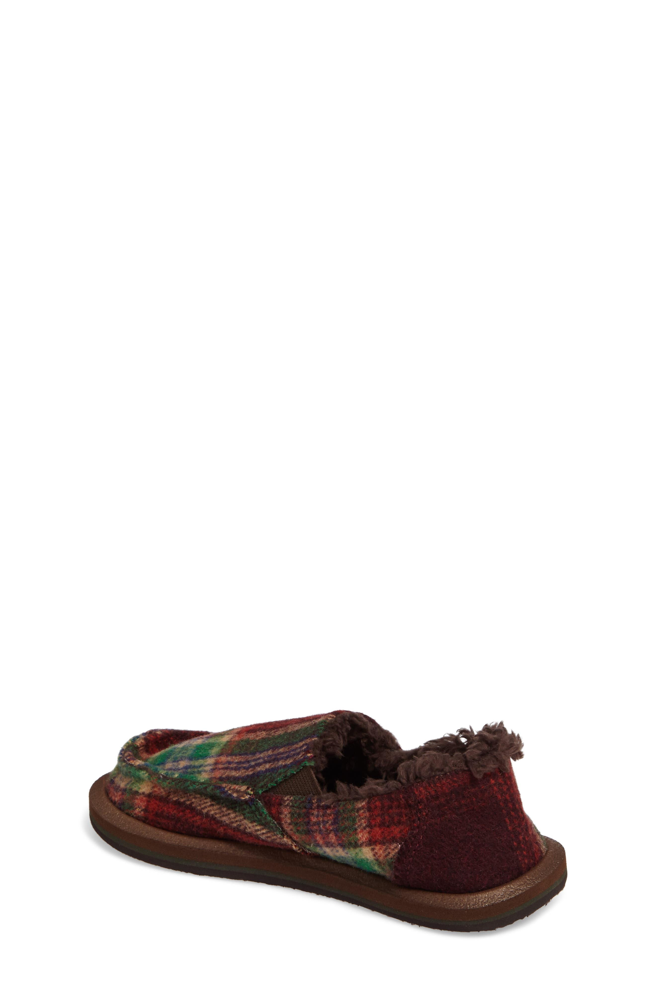 Alternate Image 2  - Sanuk Vagabond Plaid Chill Faux Fur Slip-On (Toddler, Little Kid & Big Kid)