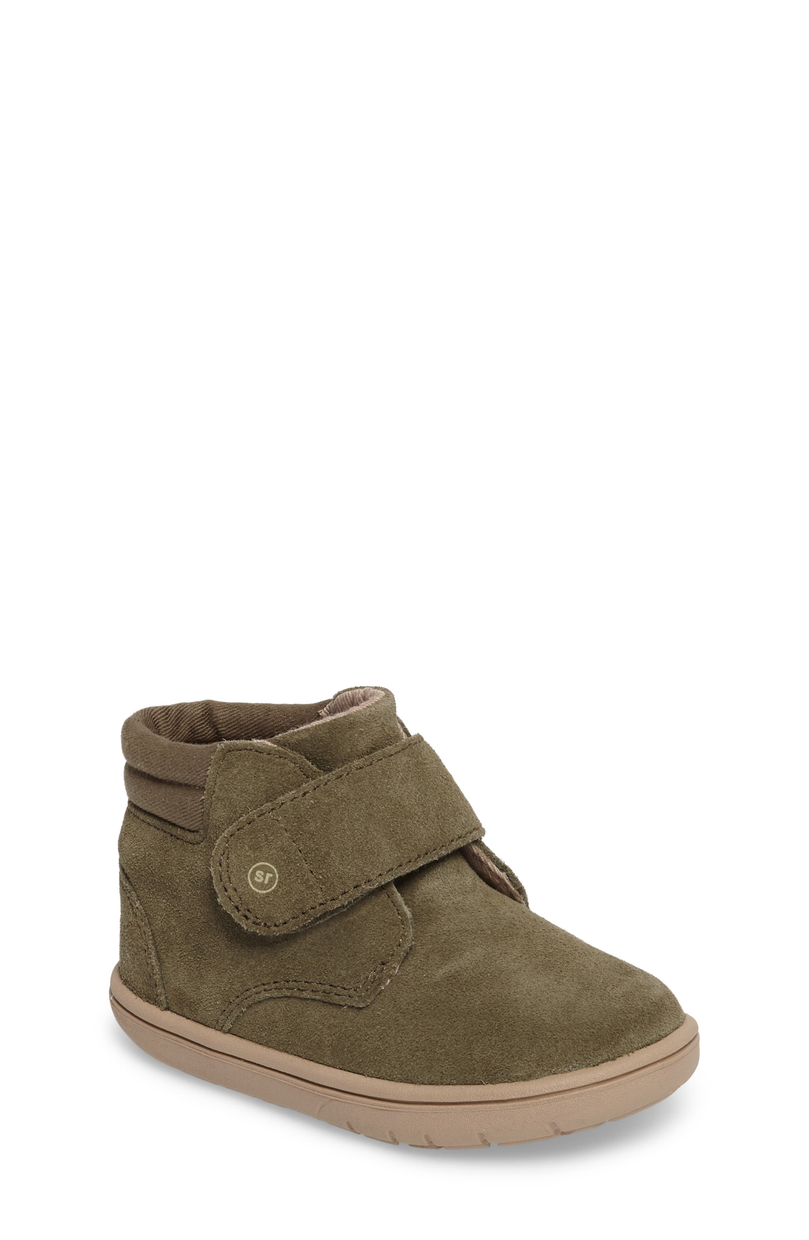 SRtech<sup>™</sup> Lincoln Bootie,                             Main thumbnail 1, color,                             Dark Green Suede