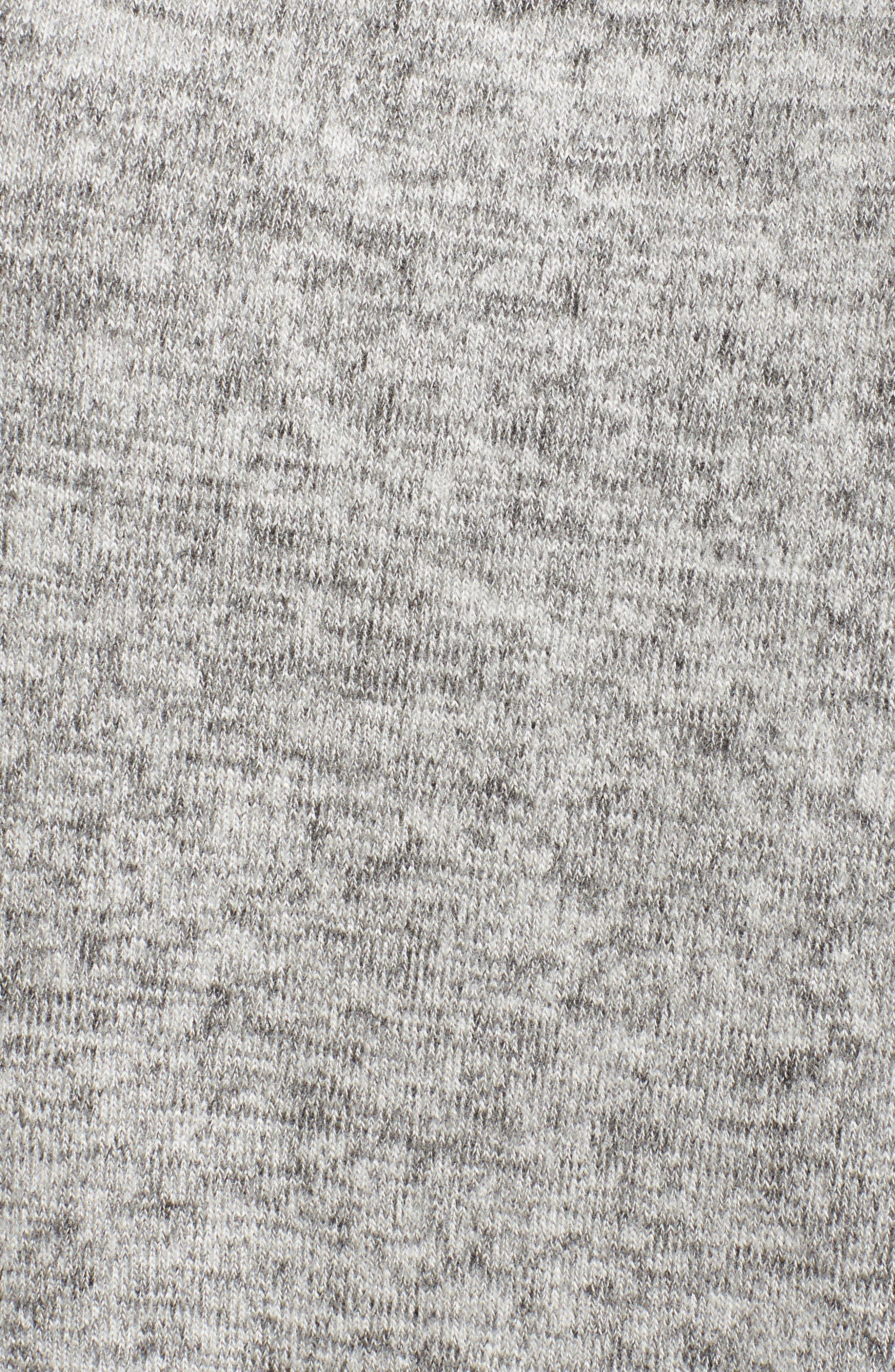 Brushed Smocked Sweatshirt,                             Alternate thumbnail 5, color,                             Grey Heather