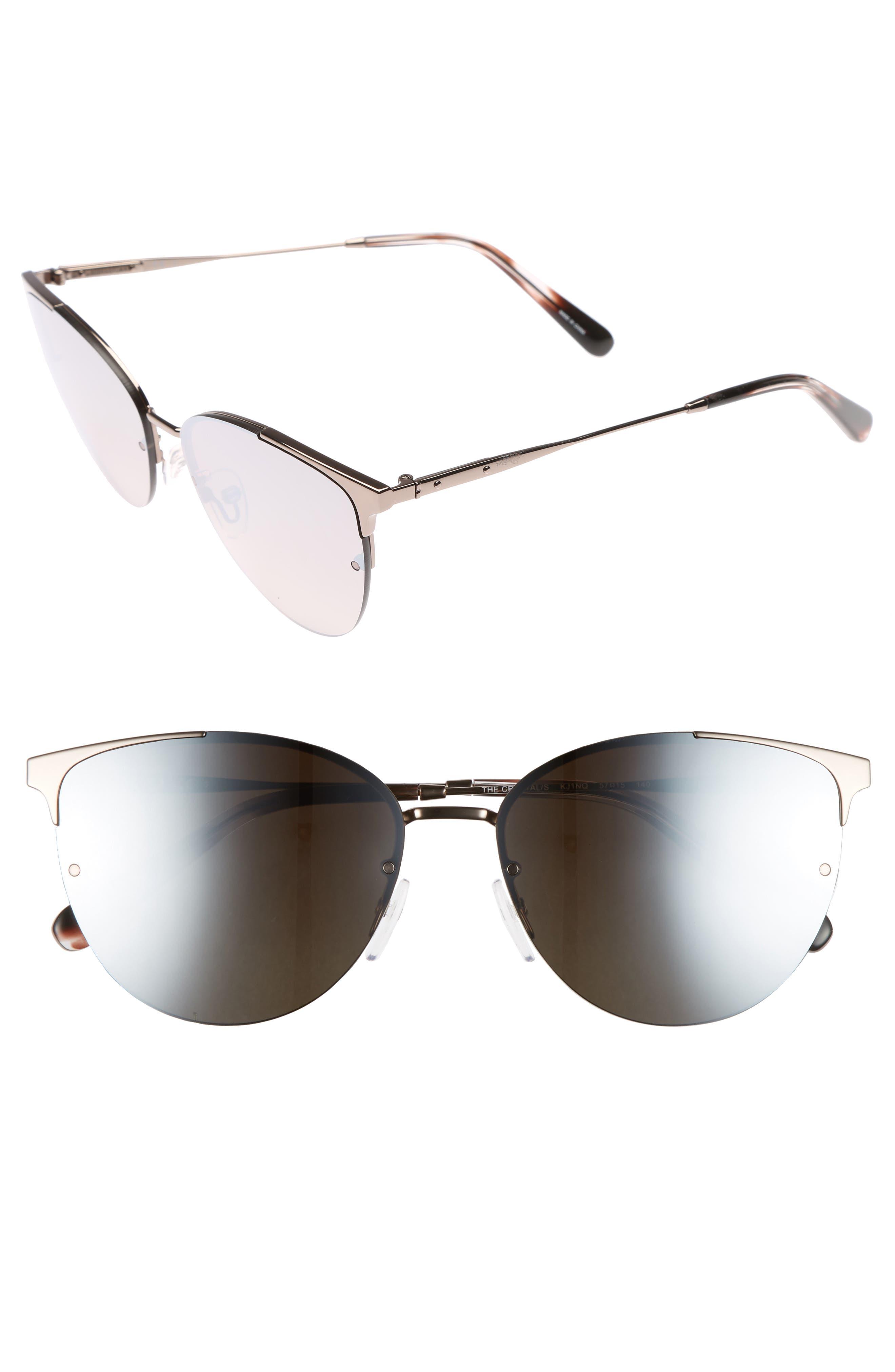Bobbi Brown The Crystal 57mm Cat Eye Sunglasses