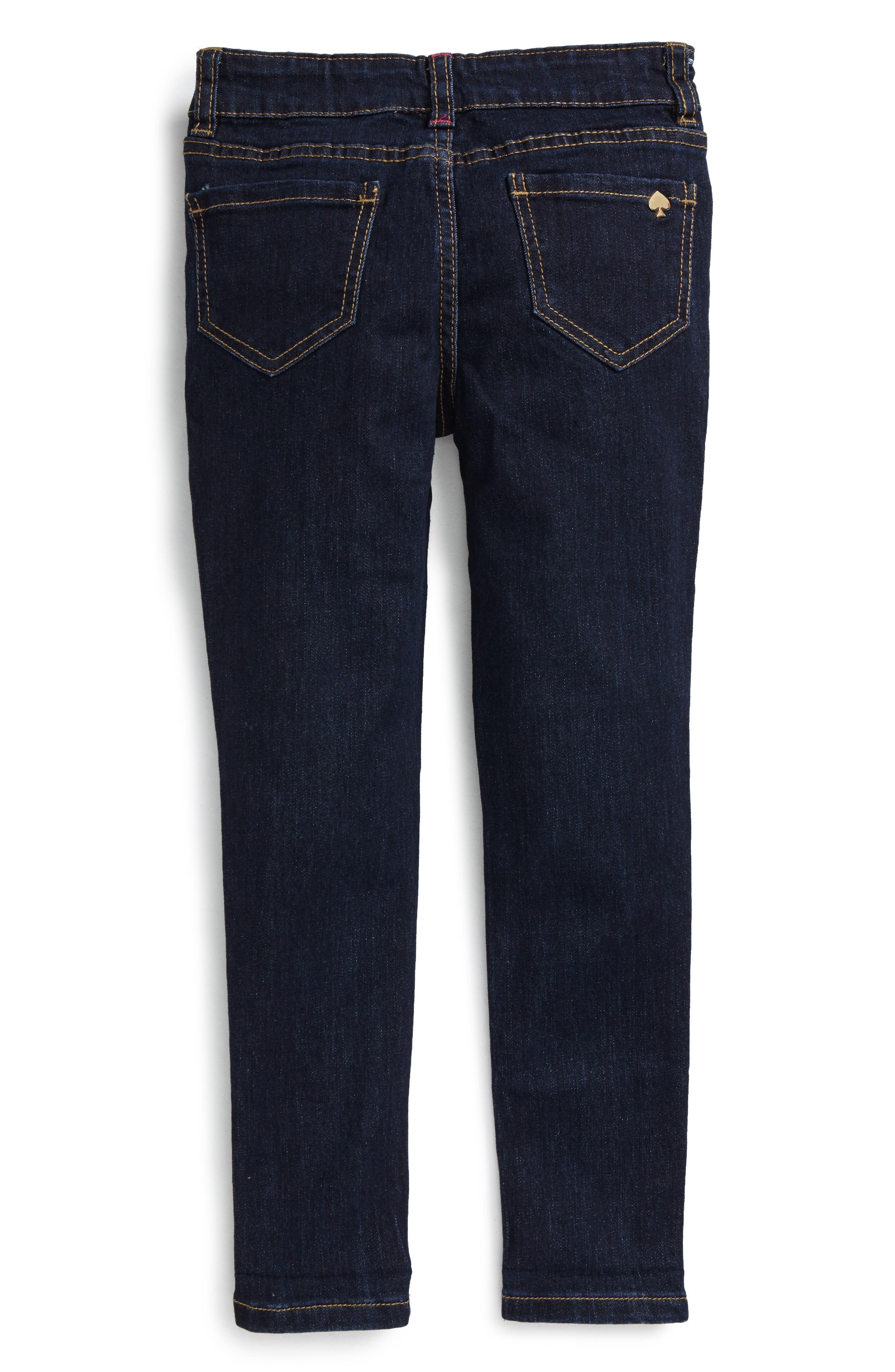 Alternate Image 2  - kate spade new york skinny stretch jeans (Toddler Girls & Little Girls)