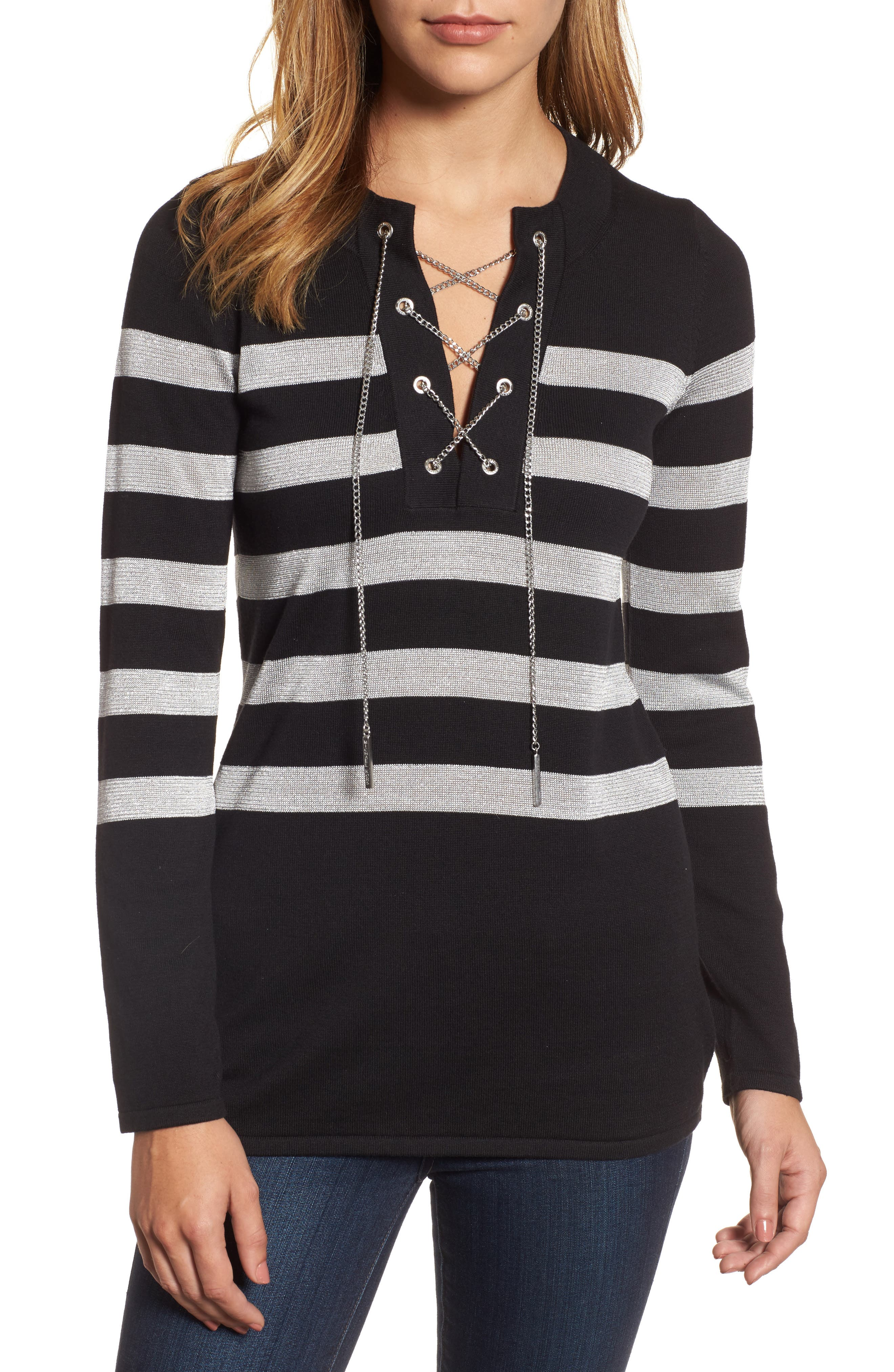 MICHAEL Michael Kors Laced-Up Chain Tunic