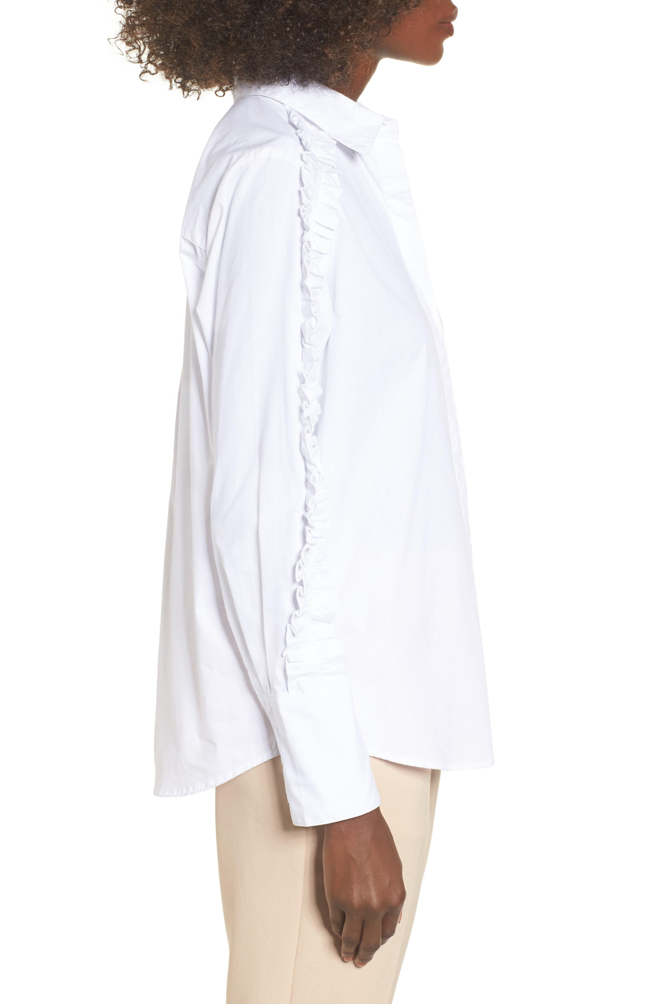 Alternate Image 4  - The Fifth Label Closer Ruffle Sleeve Button Down Shirt
