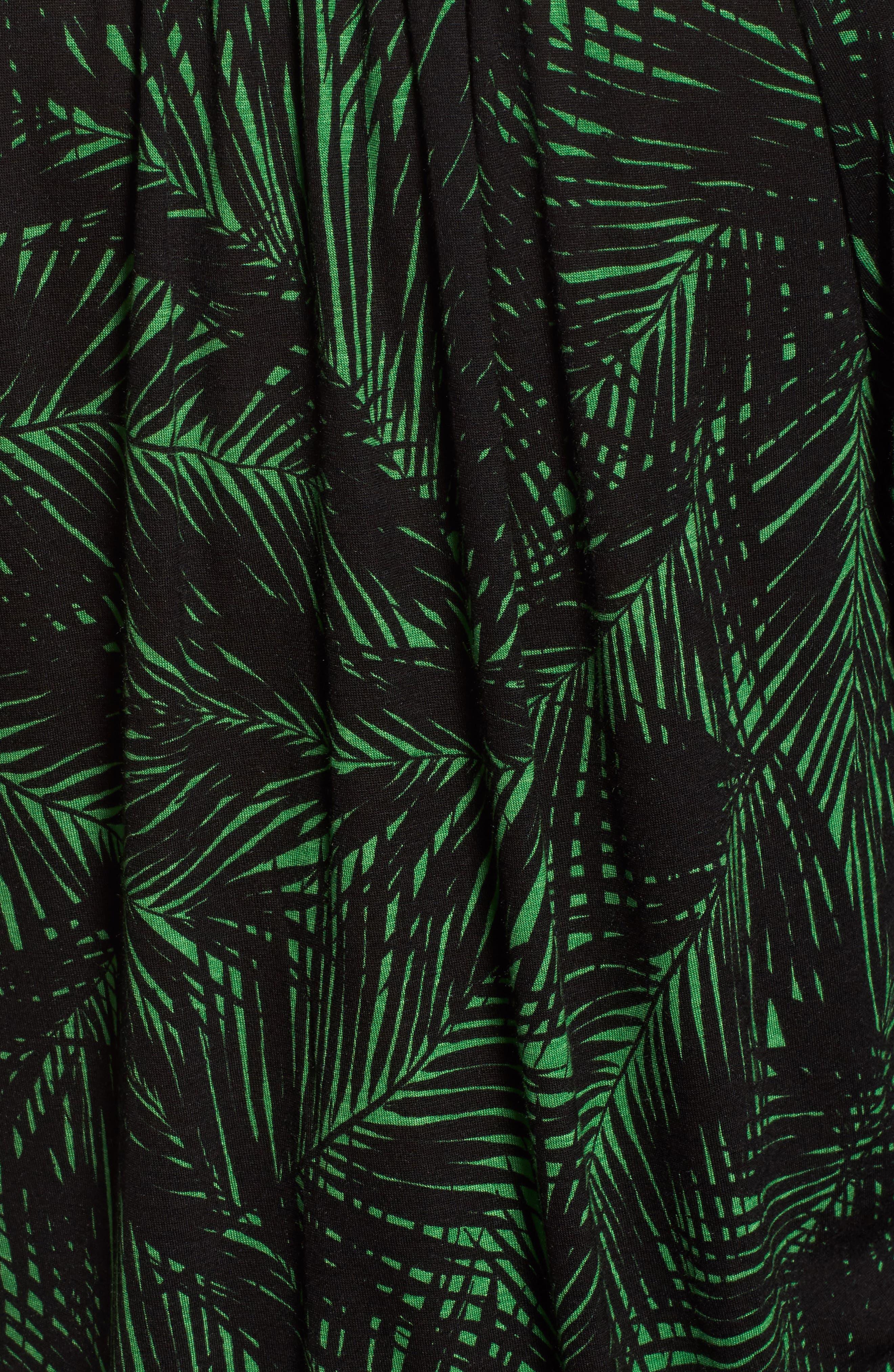 Alternate Image 5  - MICHAEL Michael Kors Palm Print Peasant Top