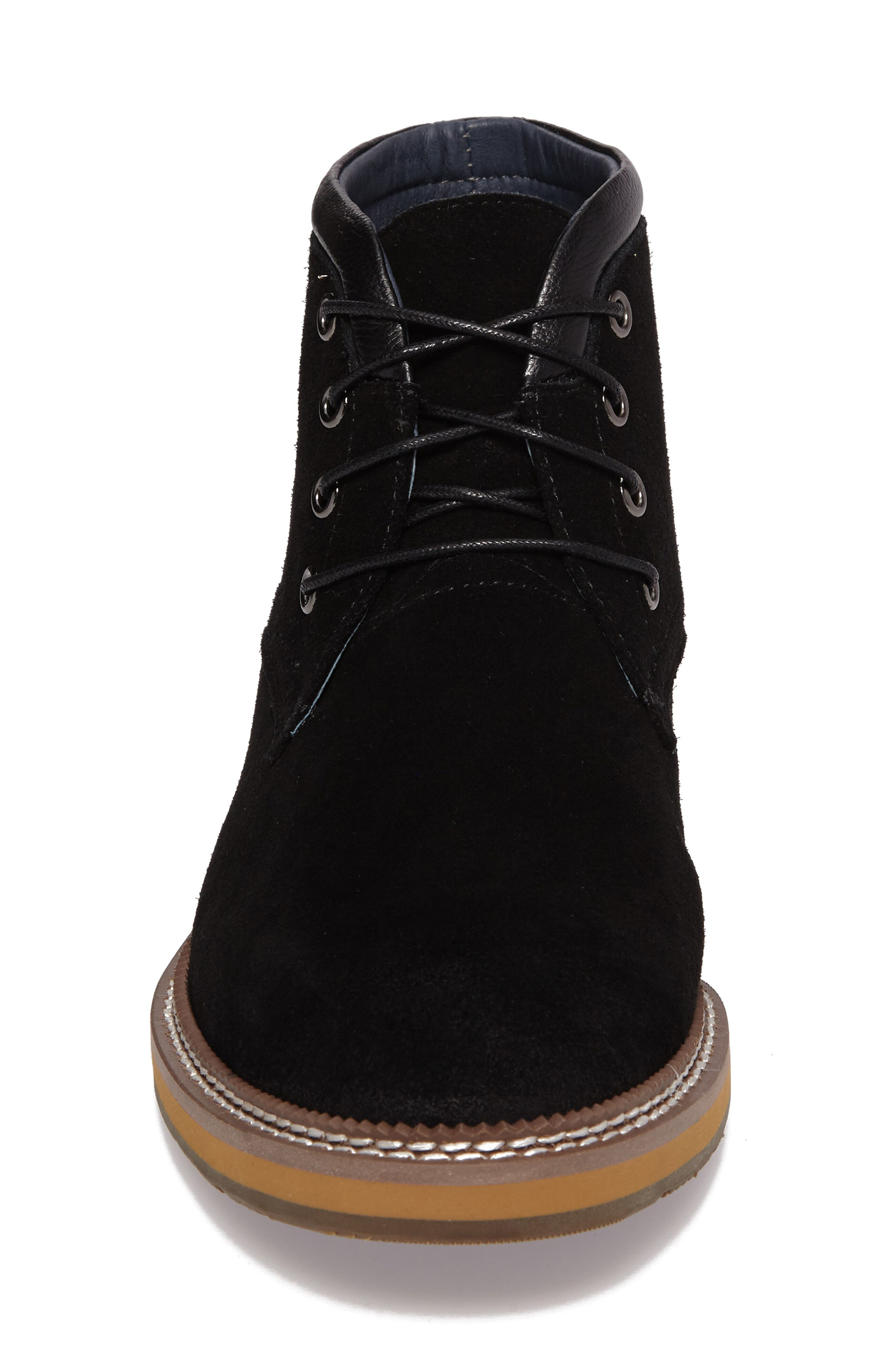 Lazo Chukka Boot,                             Alternate thumbnail 5, color,                             Black Leather