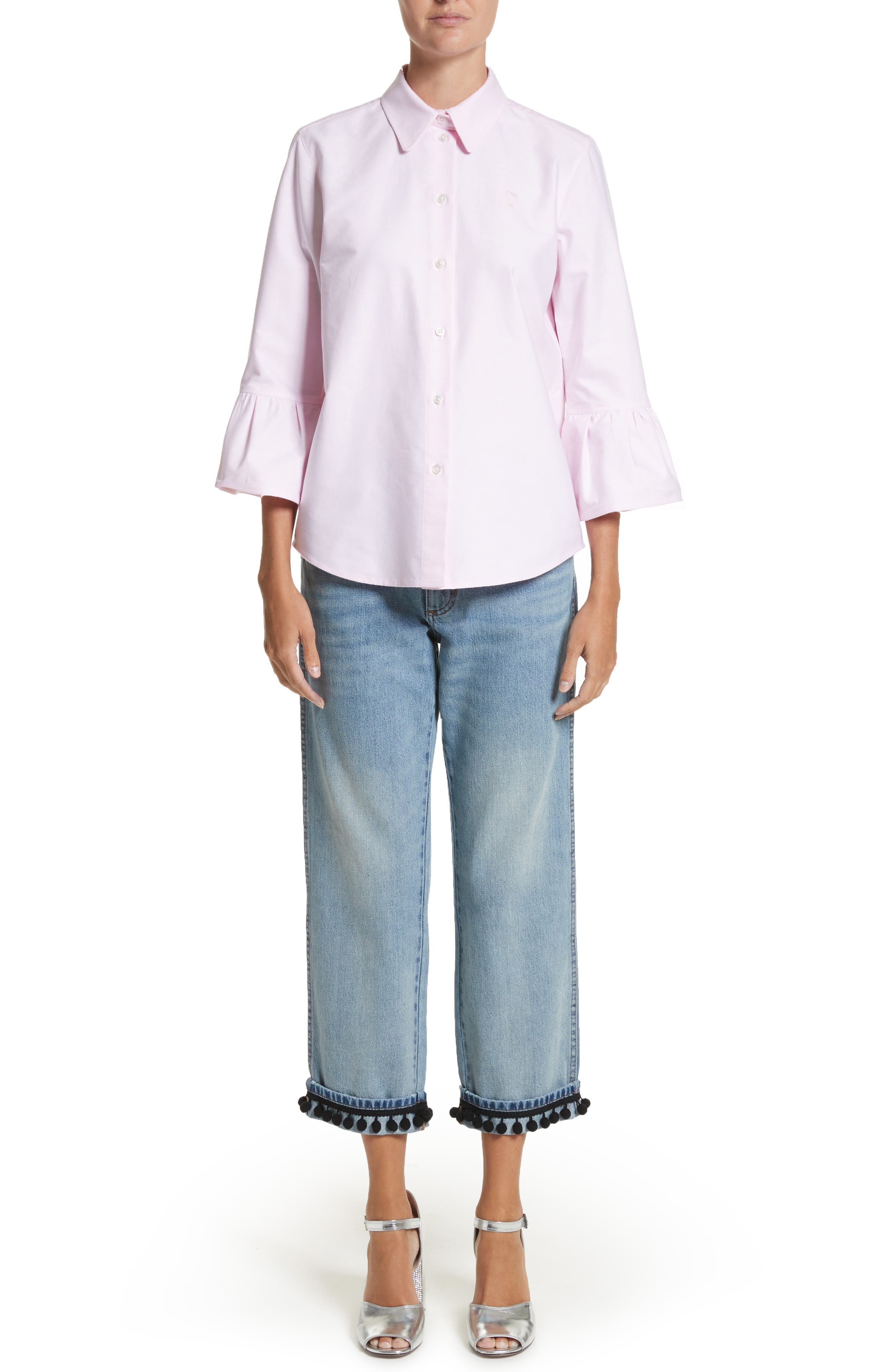 Alternate Image 9  - MARC JACOBS Pom Trim Crop Jeans