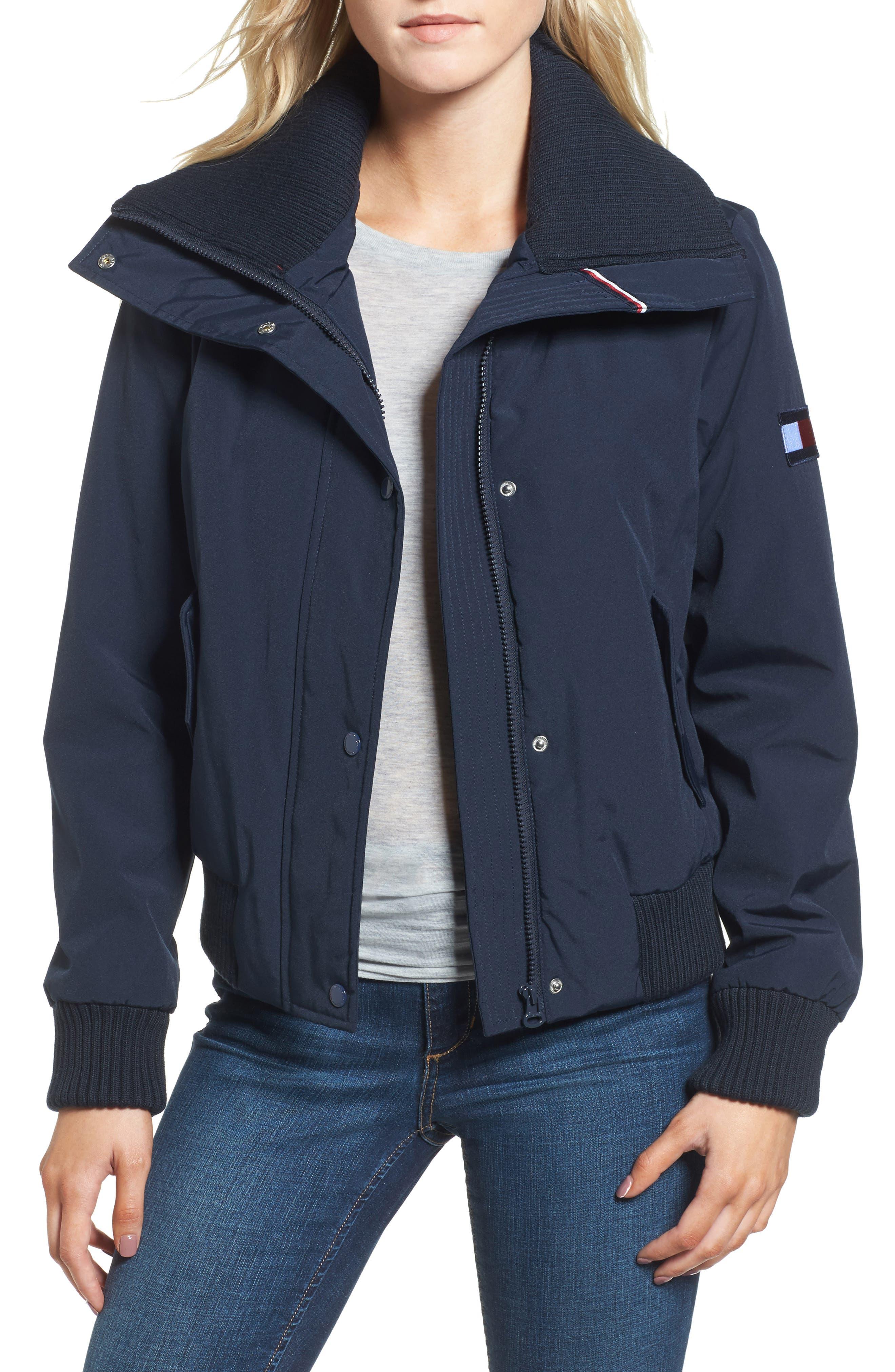 Tommy Hilfiger Flag Logo Bomber Jacket