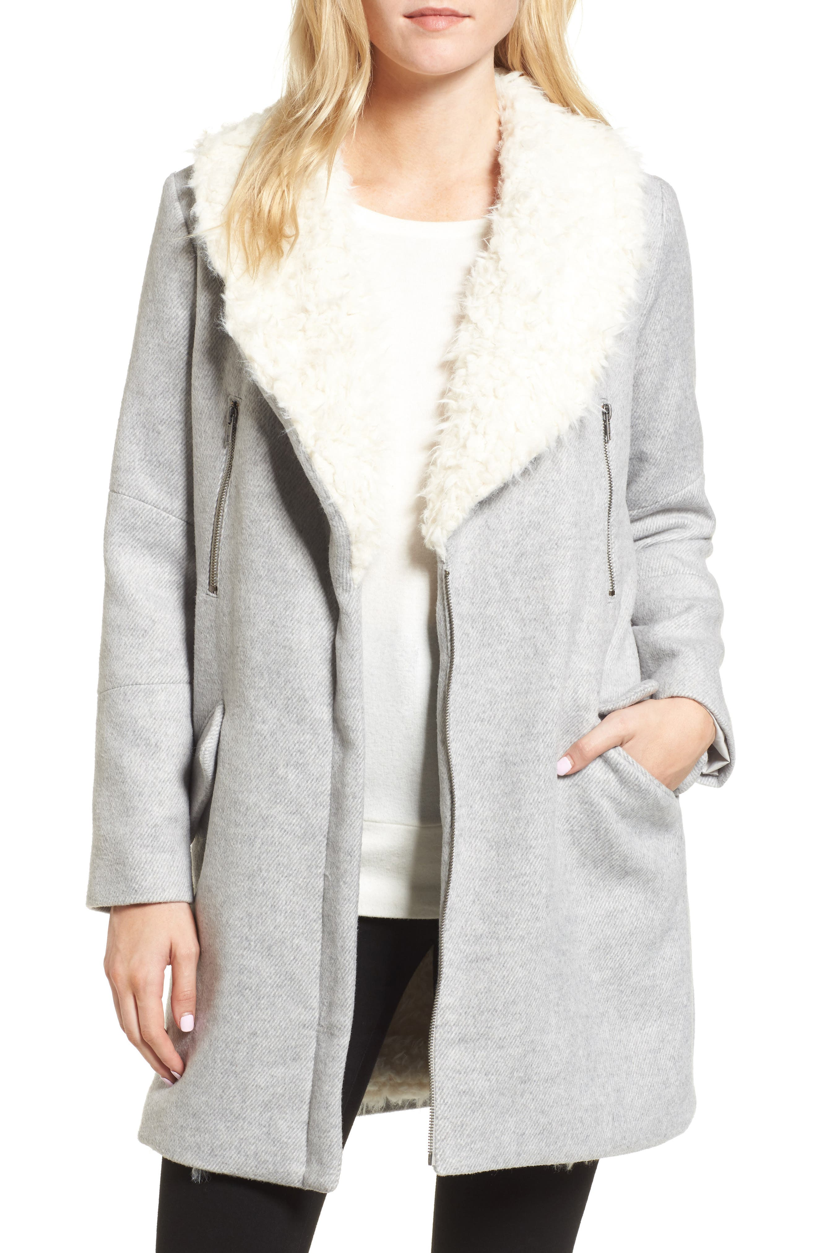 cupcakes and cashmere Abraham Faux Shearling Coat