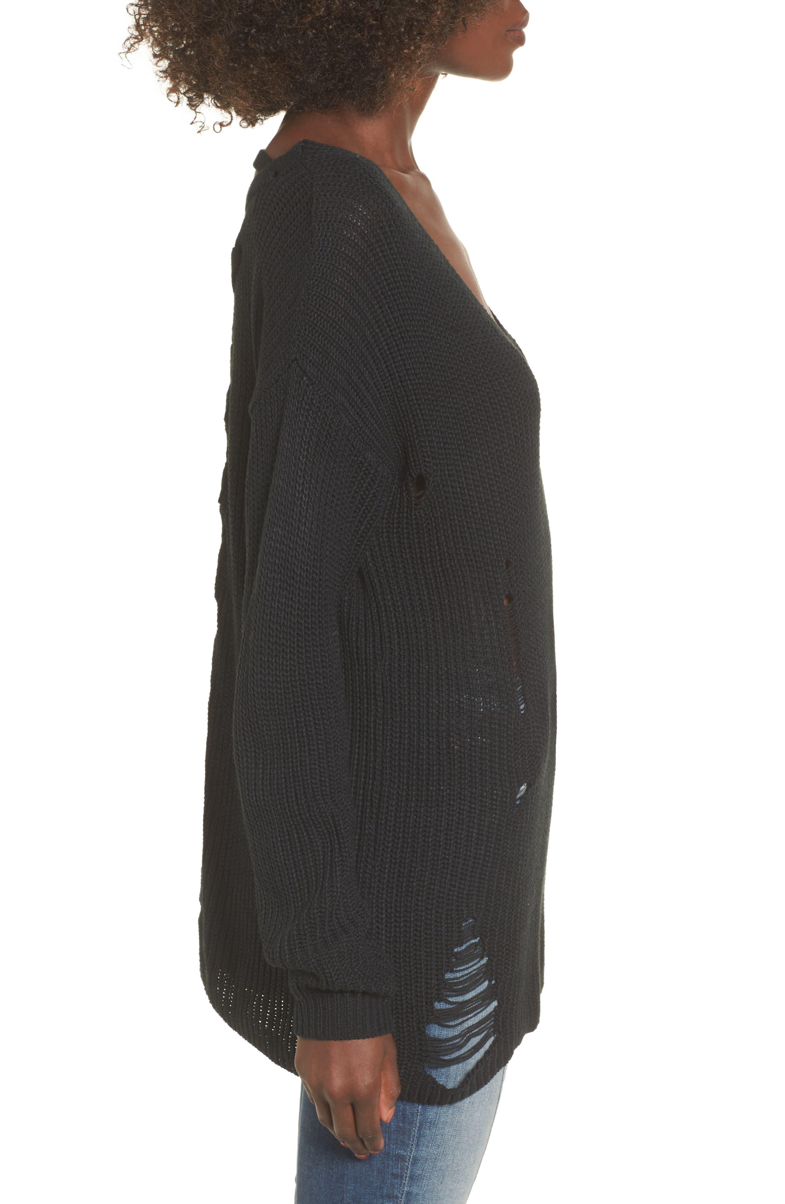 Cyndi Sweater,                             Alternate thumbnail 4, color,                             Black