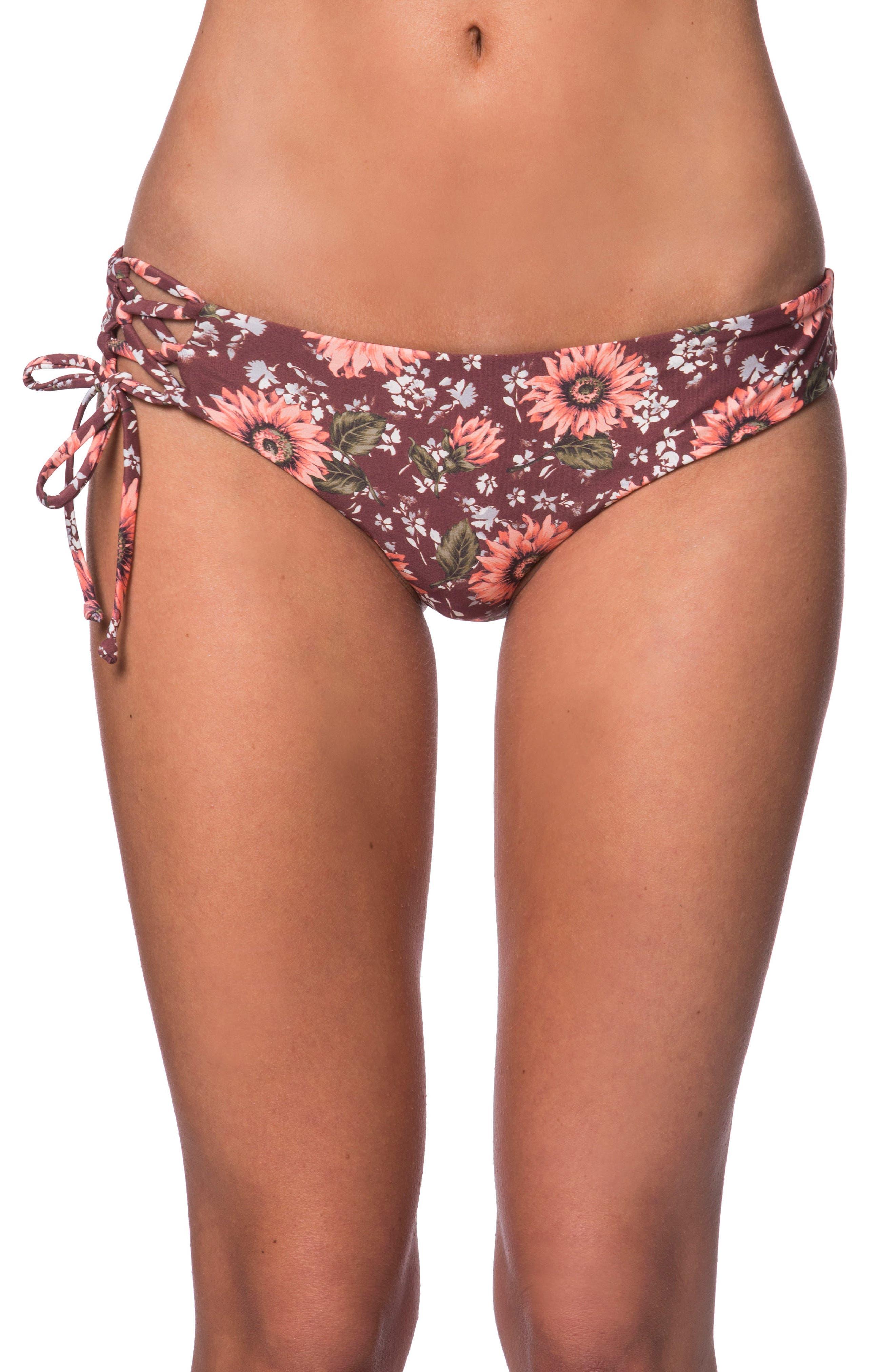 O'Neill Viera Lace-Up Hipster Bikini Bottoms