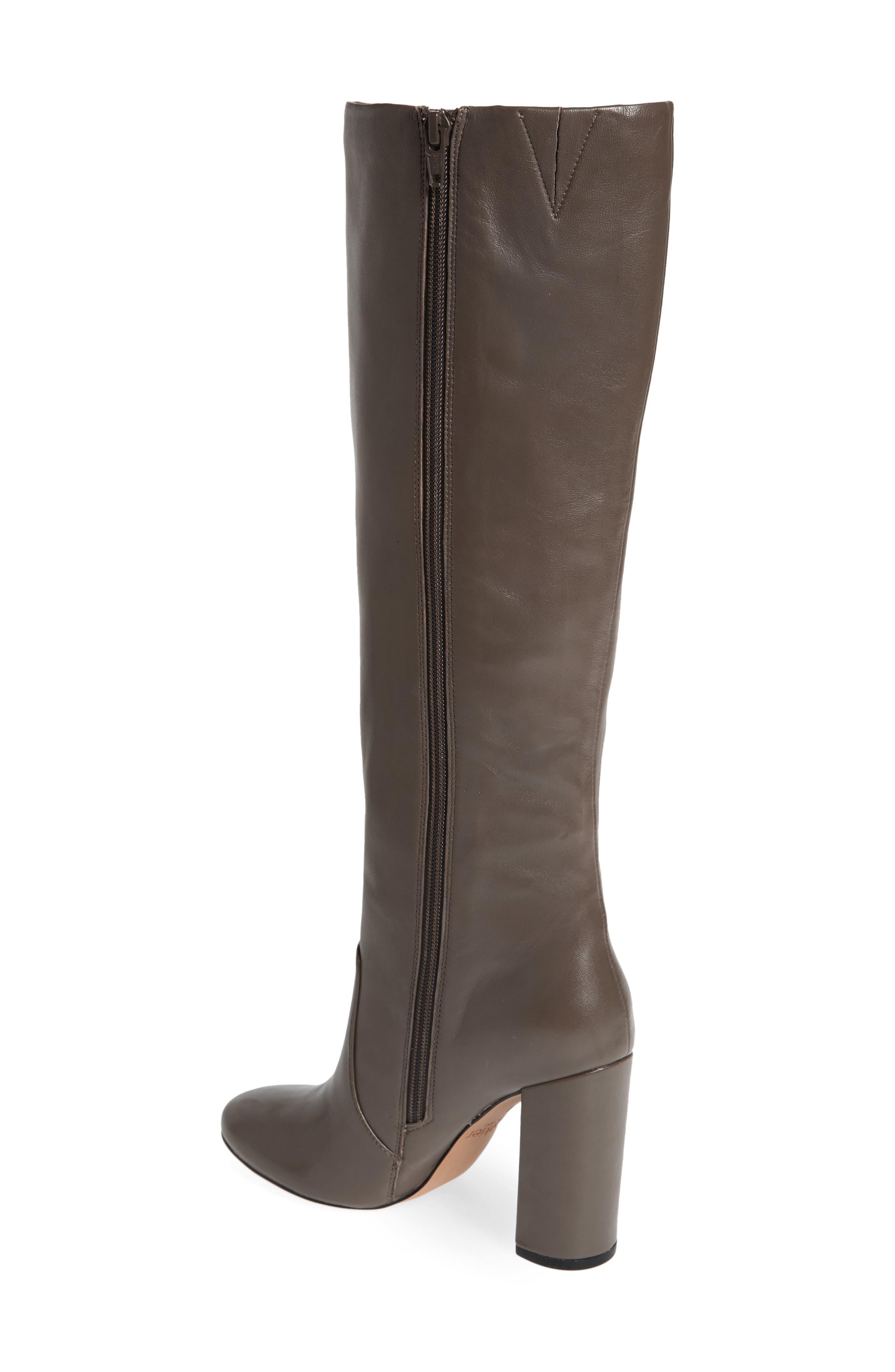 Roslin Knee High Boot,                             Alternate thumbnail 3, color,                             Graphite Leather