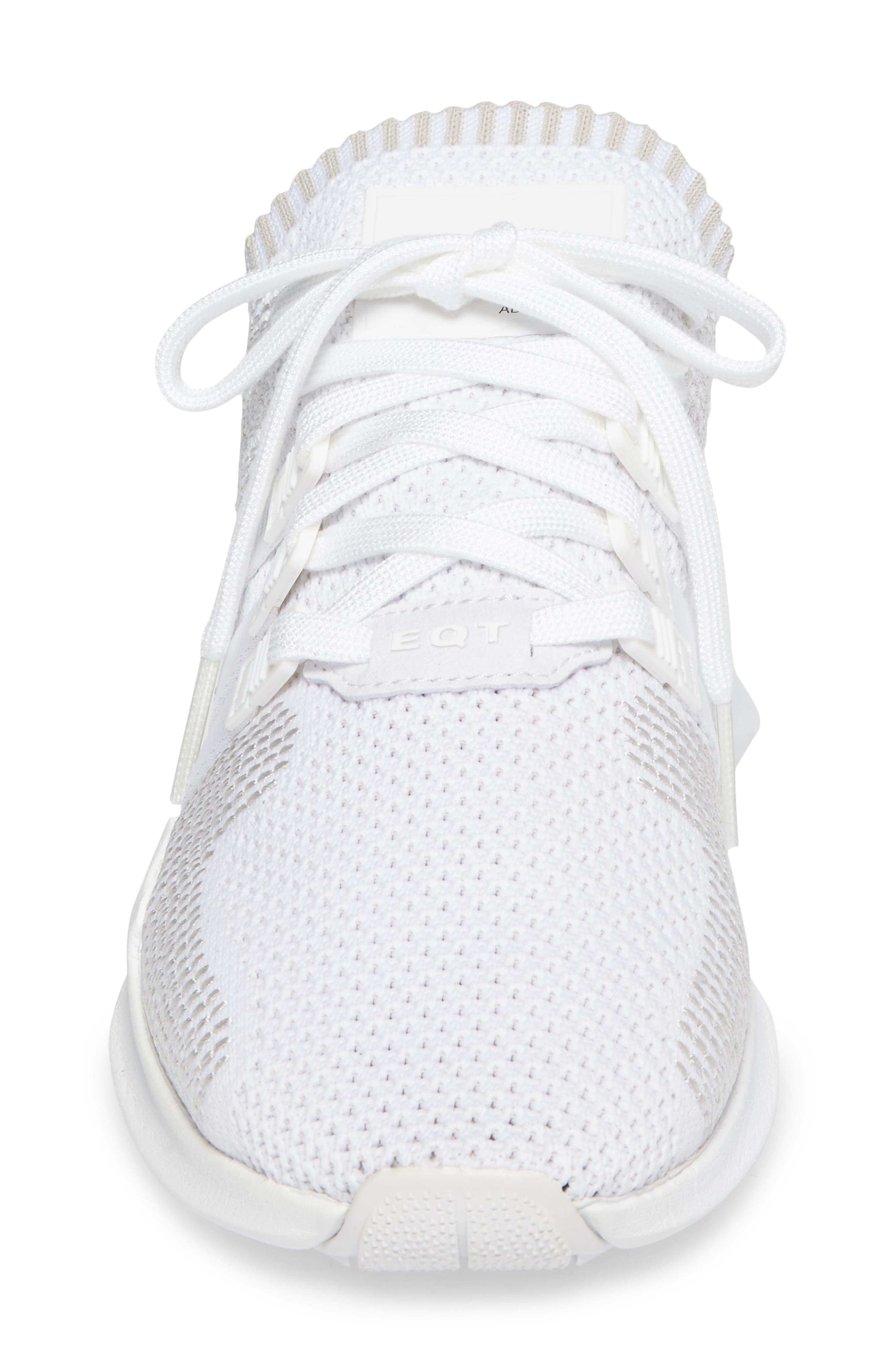 EQT Support ADV PrimeKnit Sneaker,                             Alternate thumbnail 4, color,                             White/ White/ Sub Green