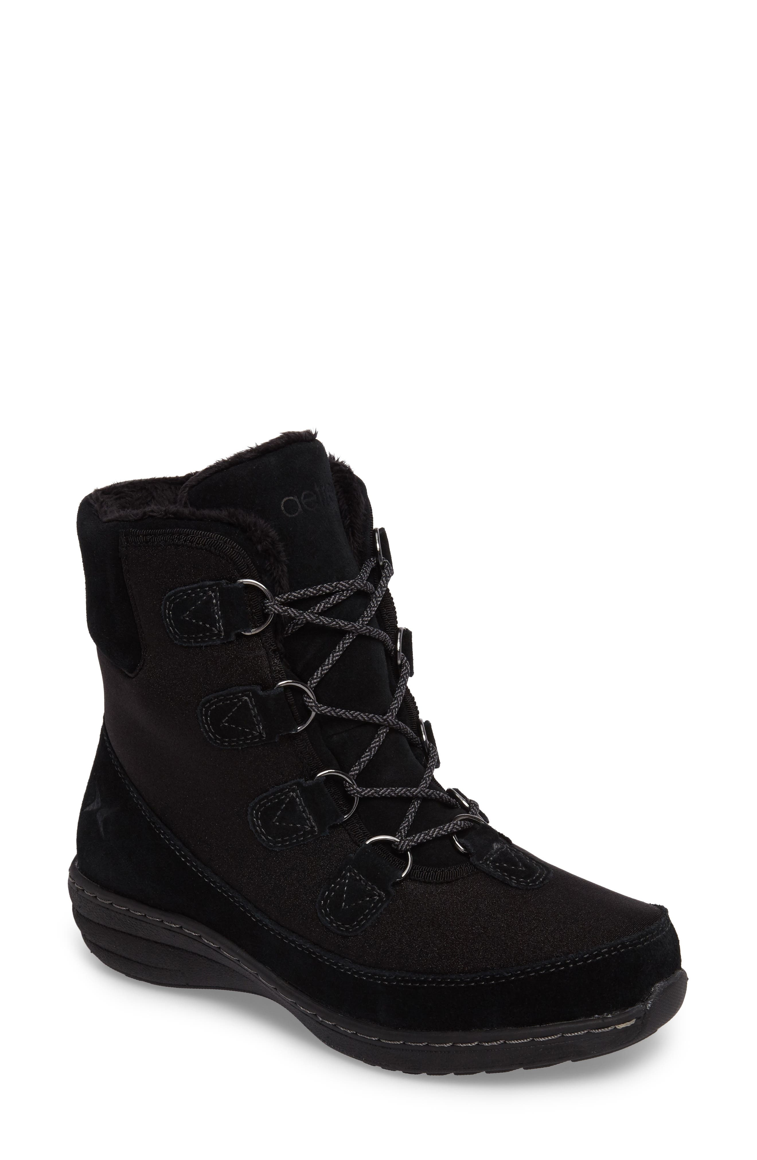 Berries Water Resistant Boot,                             Main thumbnail 1, color,                             Blackberry Suede