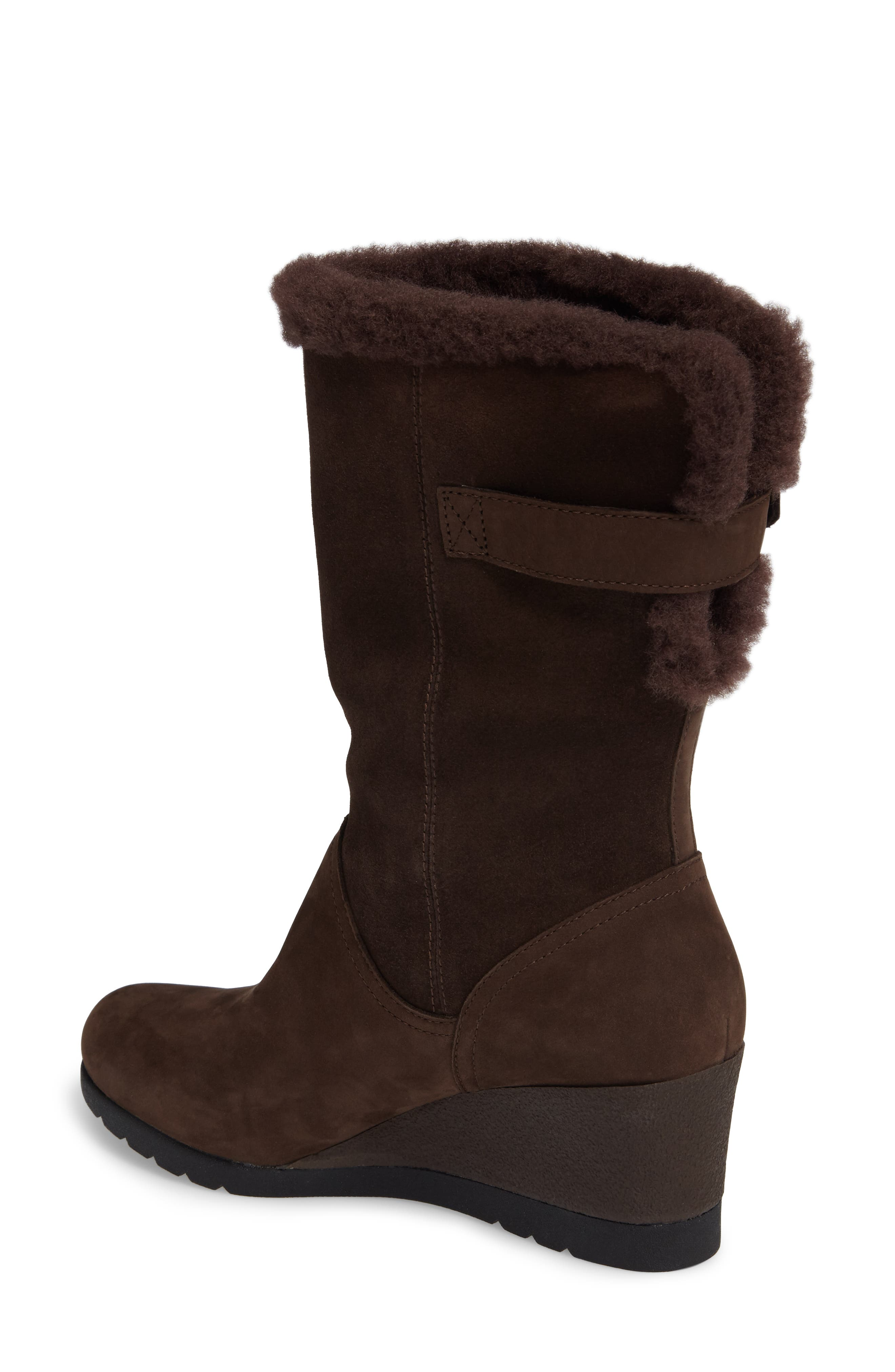 Edelina Waterproof Wedge Boot,                             Alternate thumbnail 2, color,                             Grizzly Leather