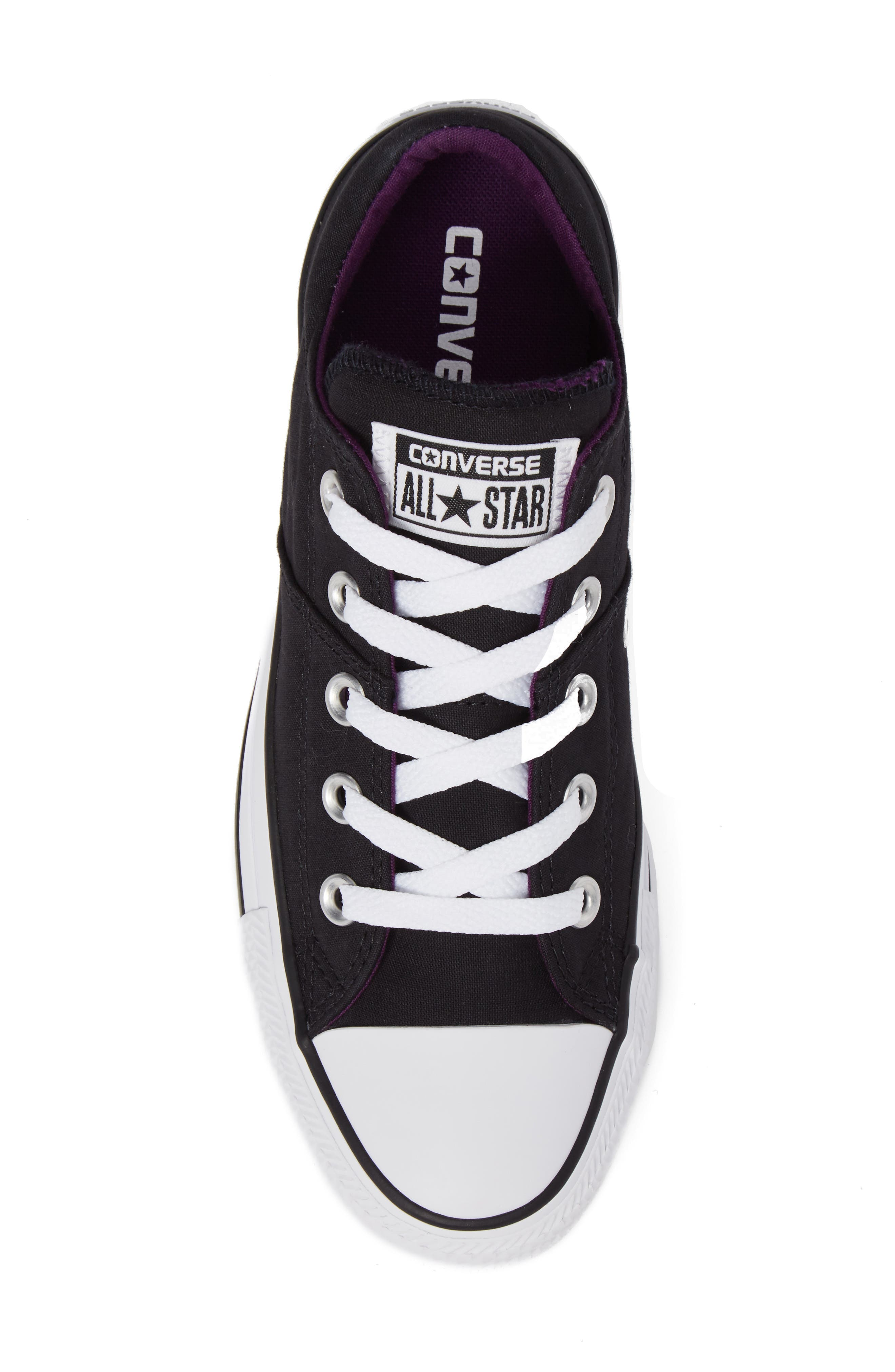 Chuck Taylor<sup>®</sup> All Star<sup>®</sup> Madison Low Top Sneaker,                             Alternate thumbnail 5, color,                             Black Canvas