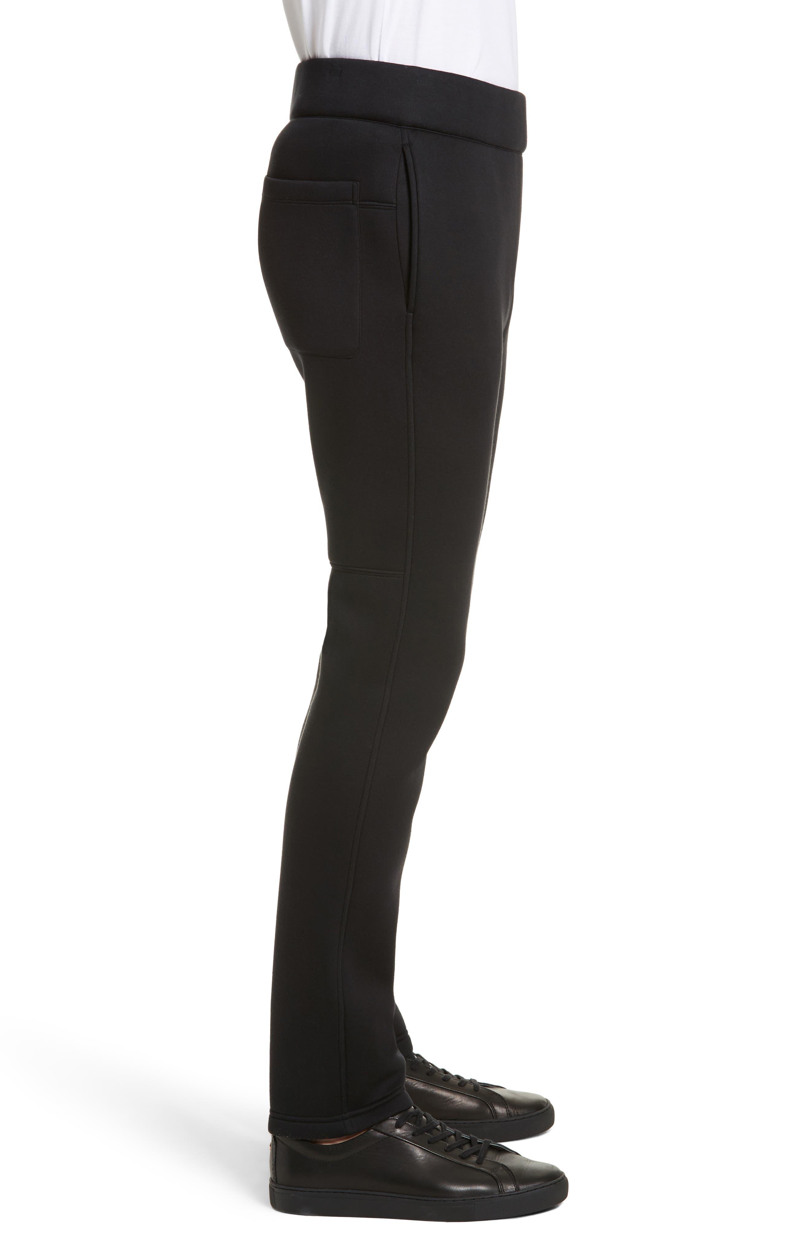 Straight Leg Jogger Pants,                             Alternate thumbnail 3, color,                             Black