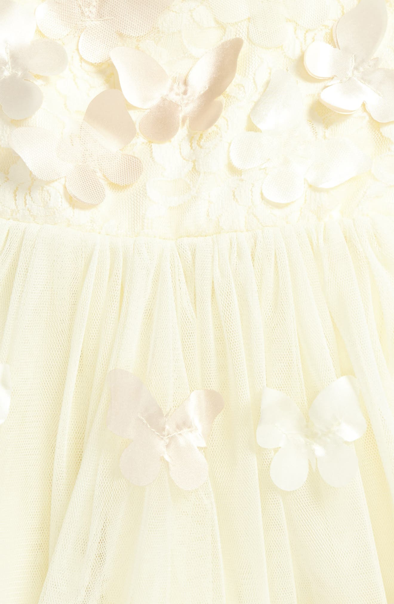 Butterfly Tulle Dress,                             Alternate thumbnail 2, color,                             Gold