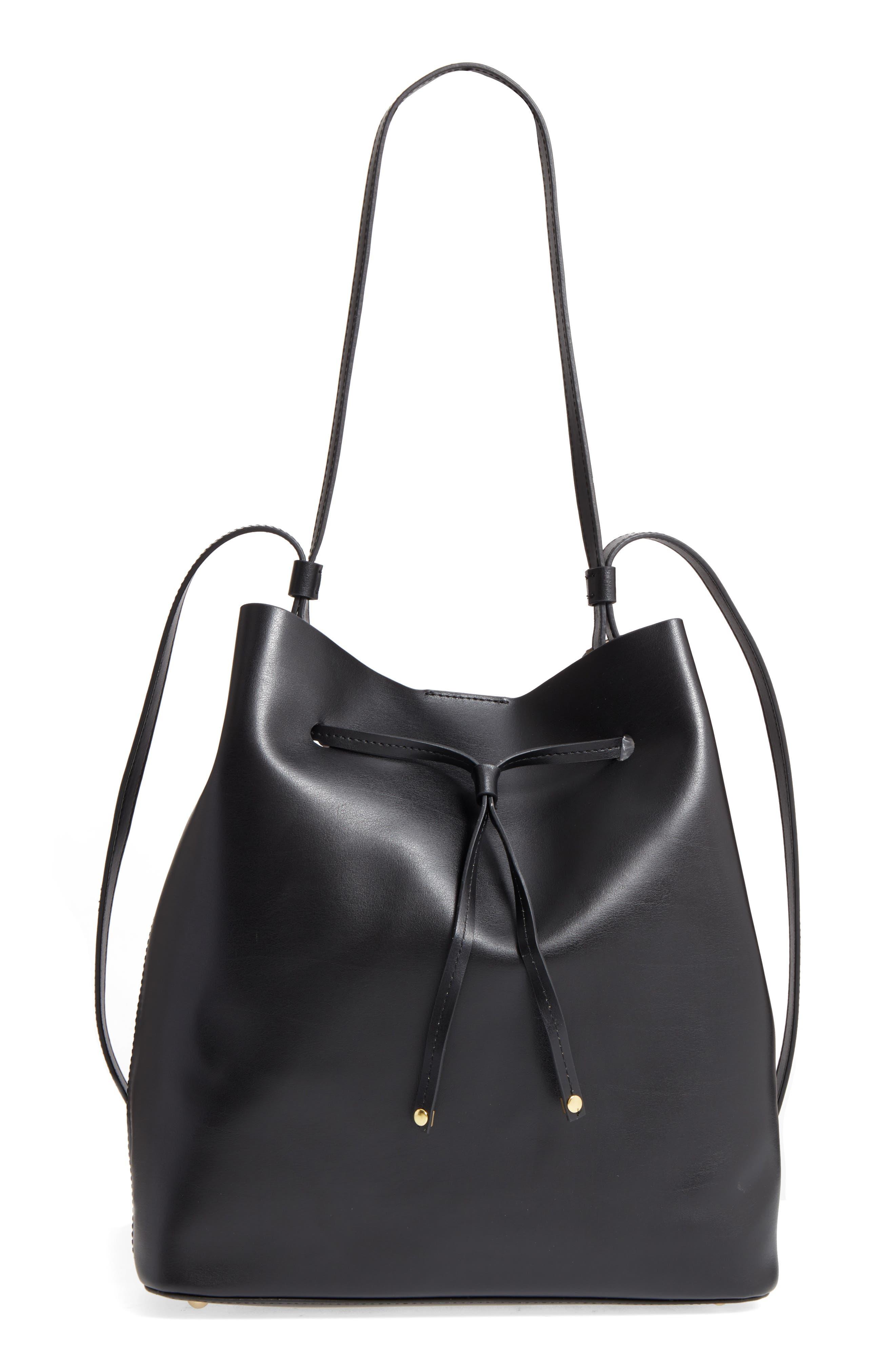 Lodis Large Halina Leather Bucket Bag
