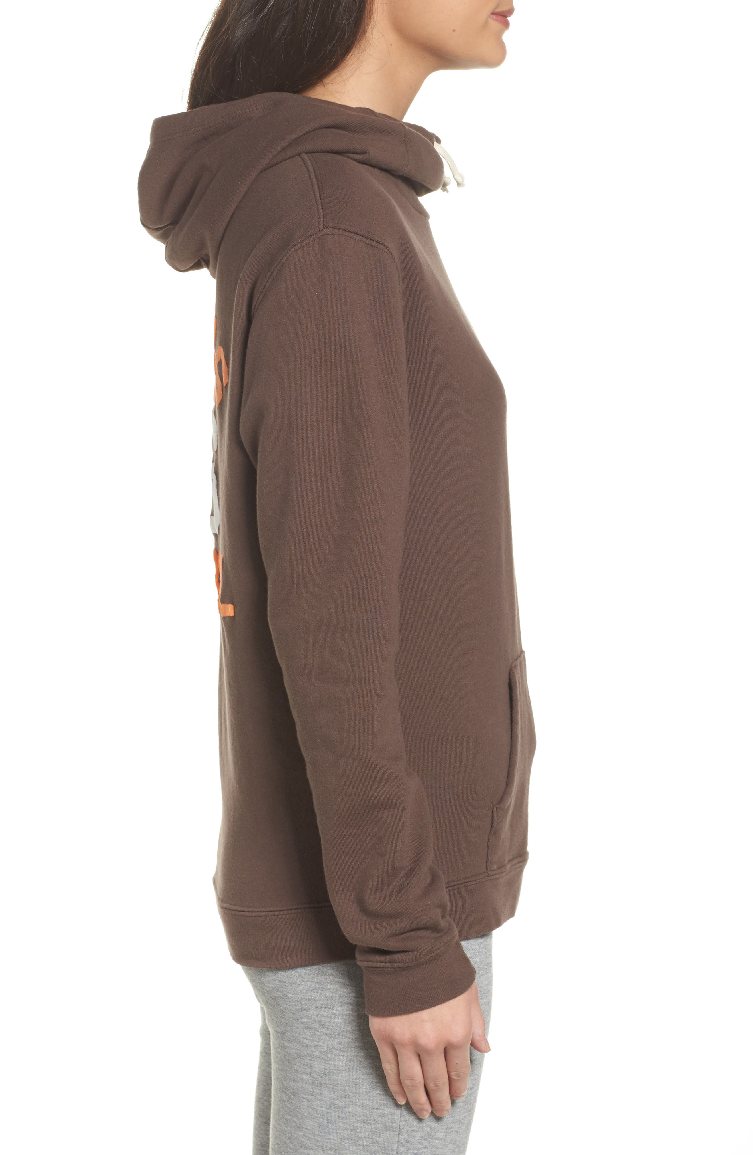 NFL Cleveland Browns Sunday Hoodie,                             Alternate thumbnail 3, color,                             Dark Chocolate