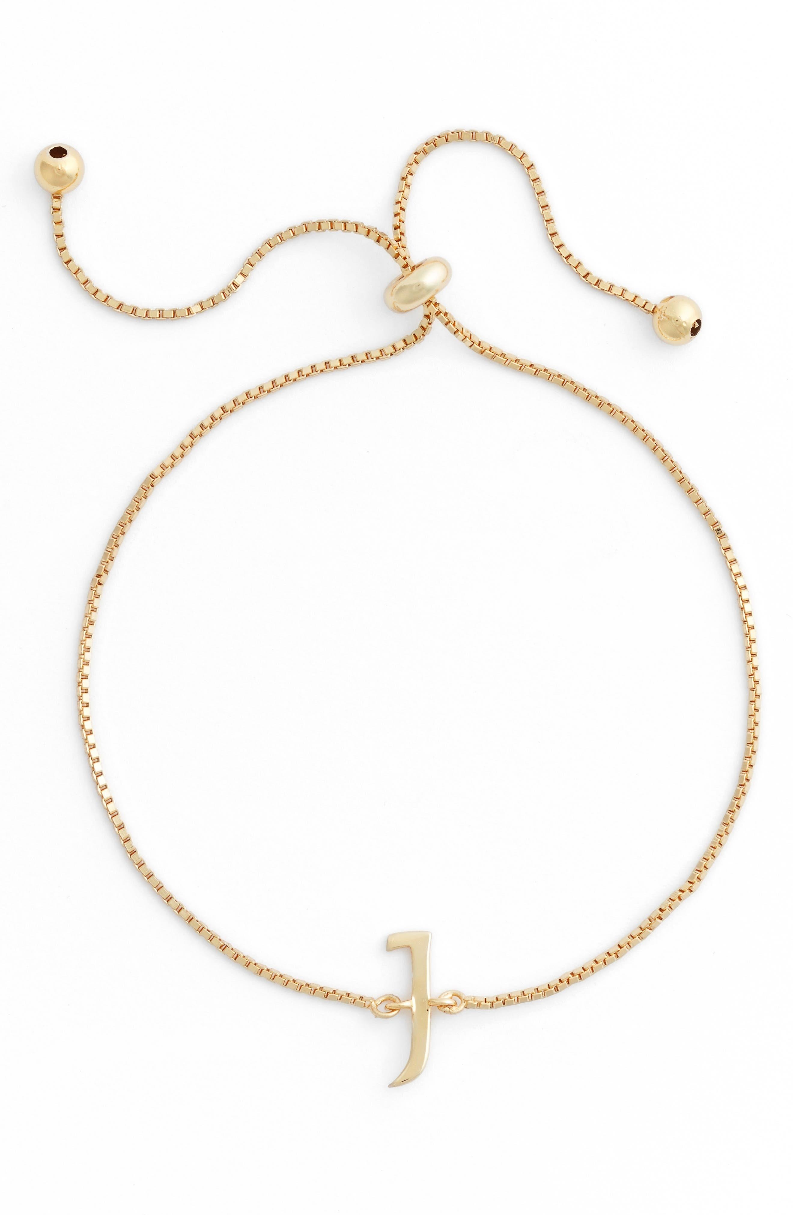 Main Image - Argento Vivo Gold Initial Bracelet