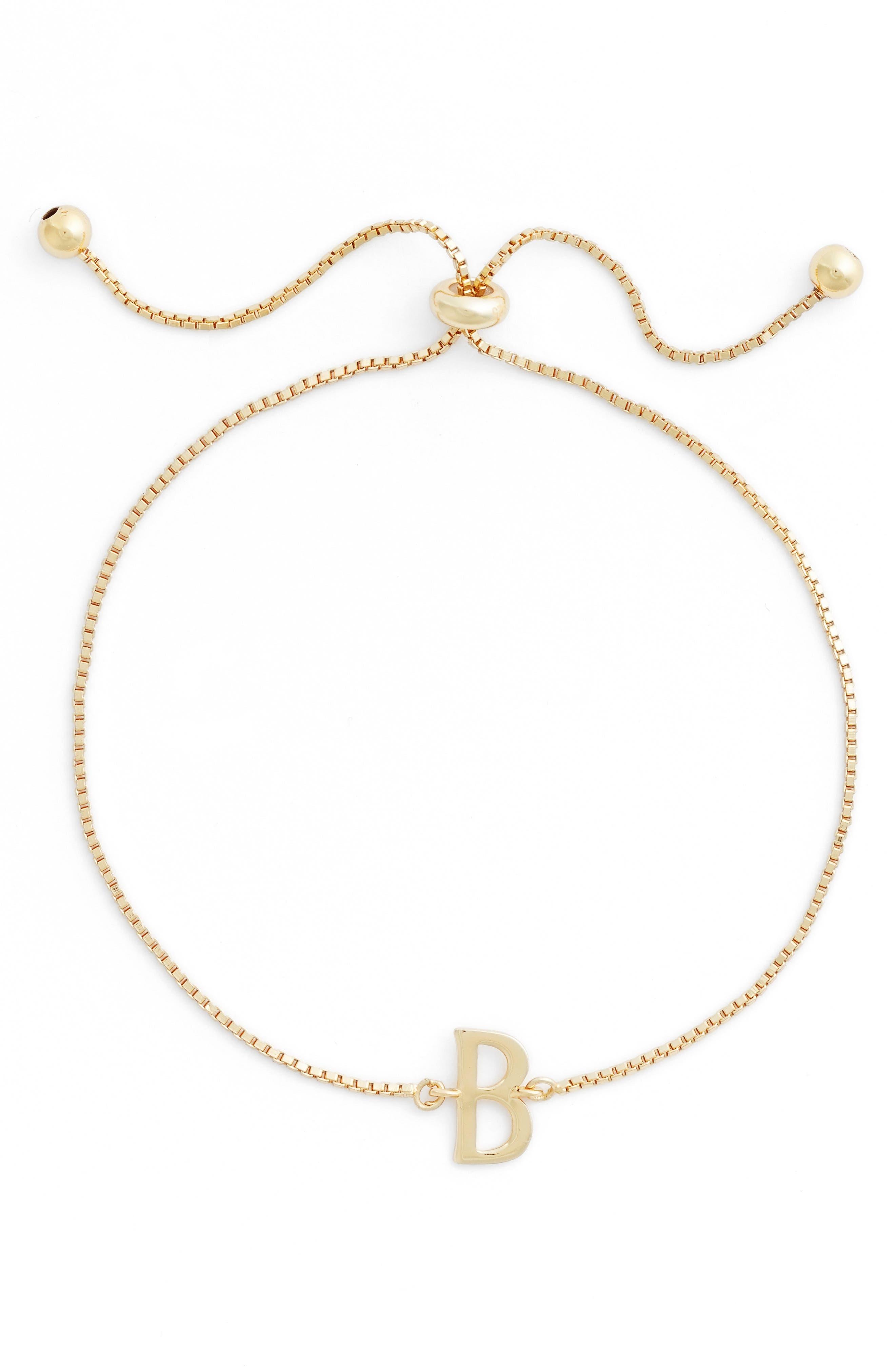 Argento Vivo Gold Initial Bracelet