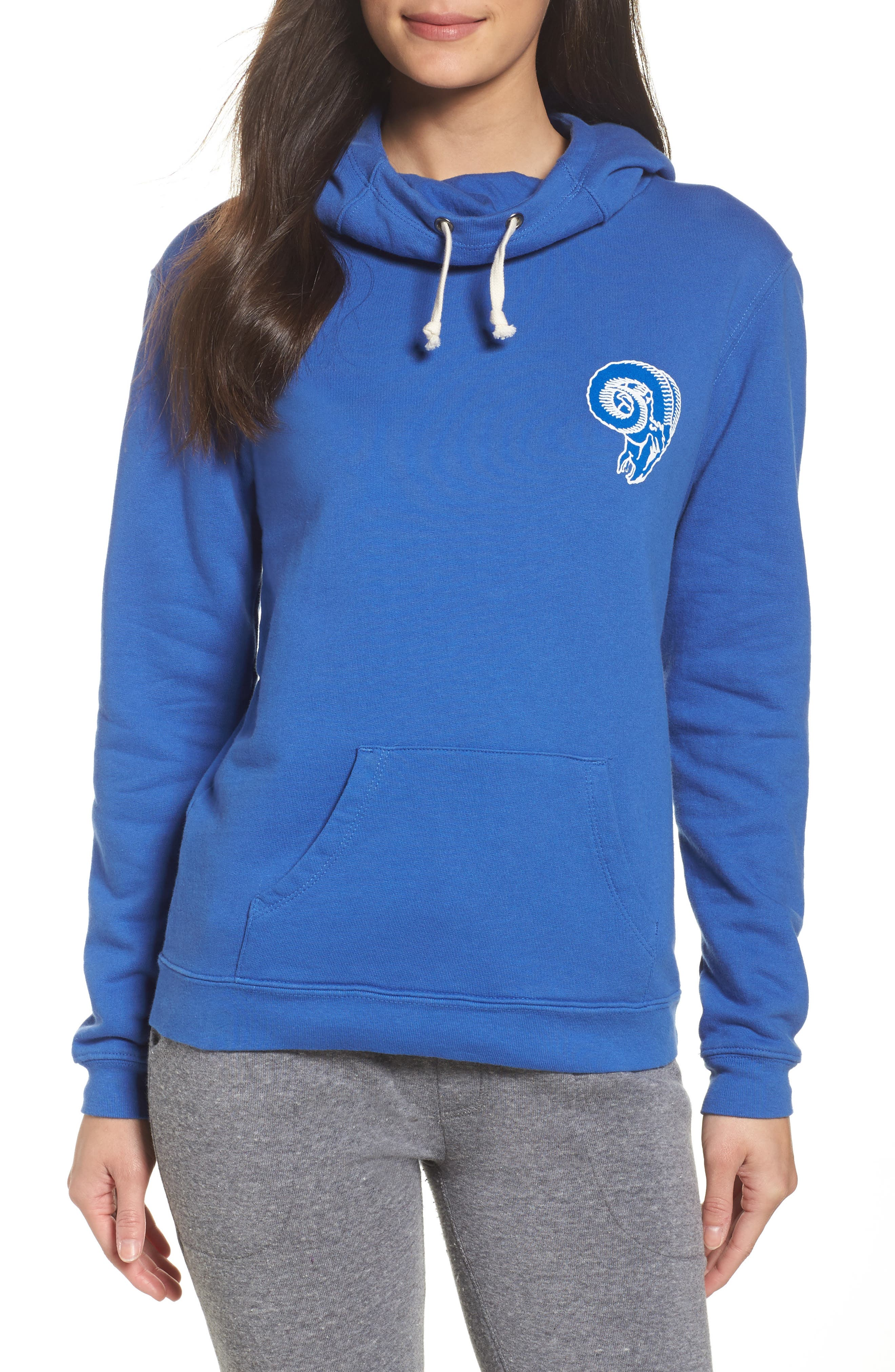 NFL Los Angeles Rams Sunday Hoodie,                         Main,                         color, Liberty