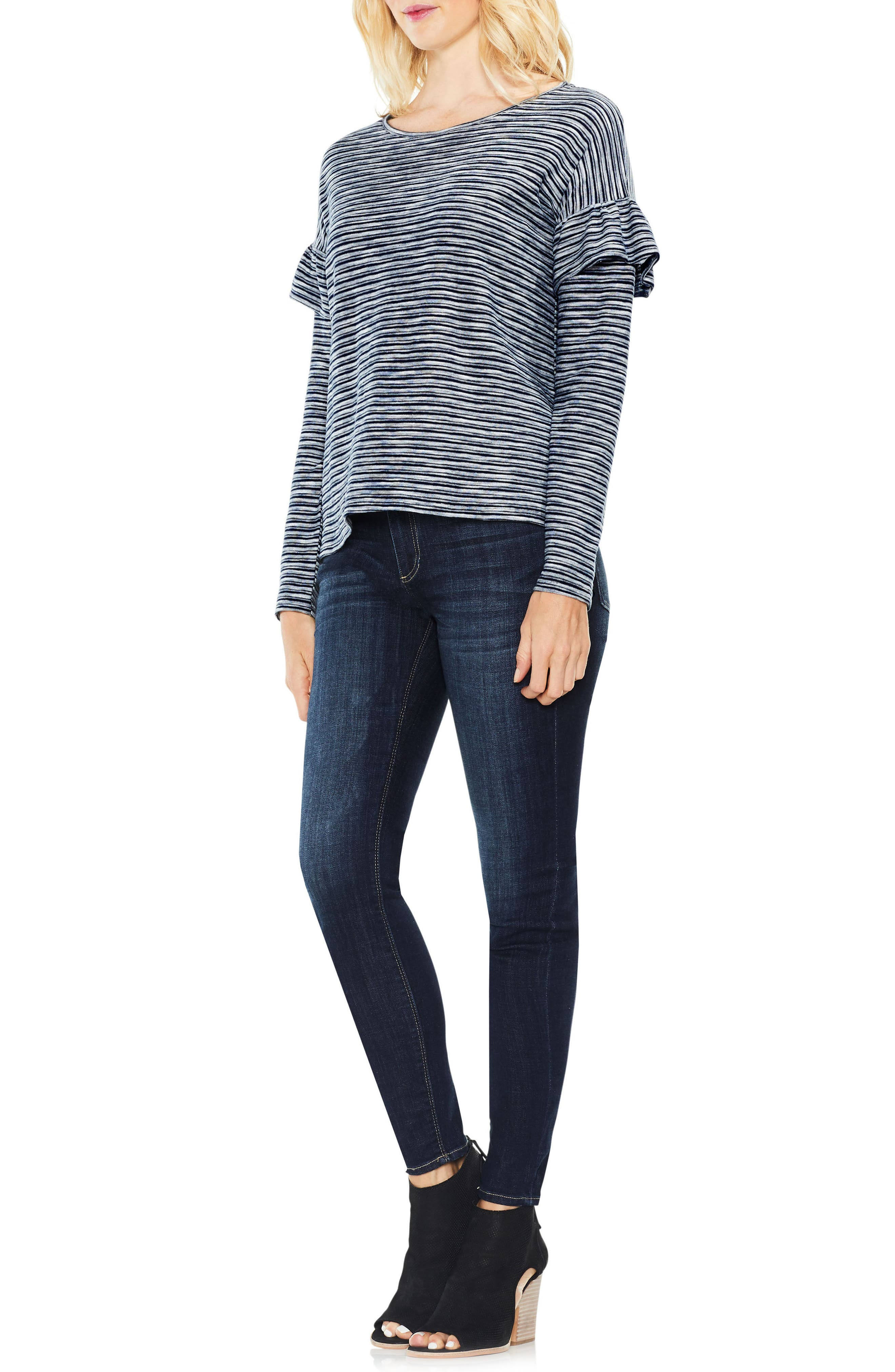 Alternate Image 3  - Two by Vince Camuto Long Sleeve Ruffle Shoulder Top
