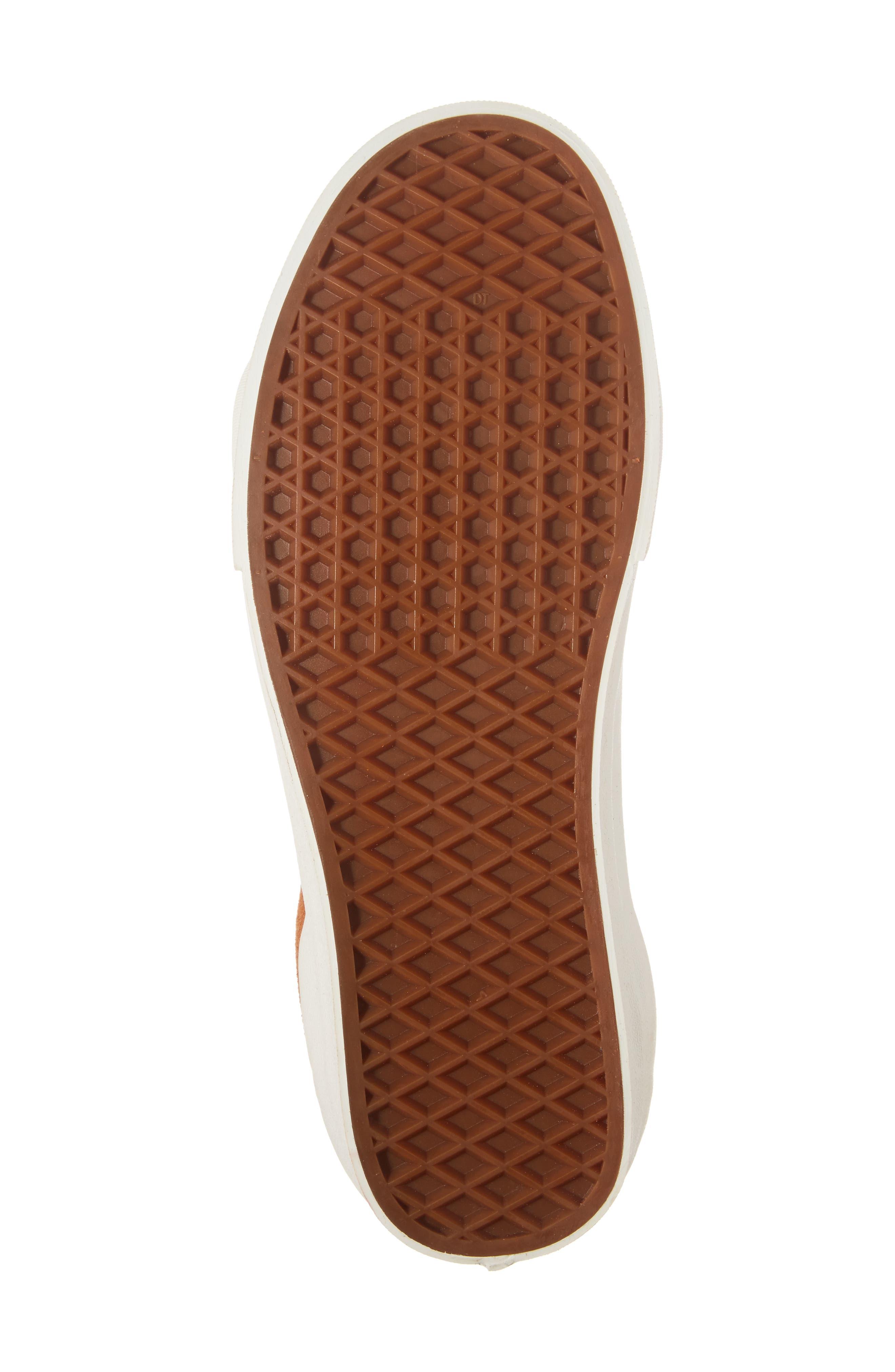 Sk8-Hi Reissue Sneaker,                             Alternate thumbnail 6, color,                             Glazed Ginger Suede