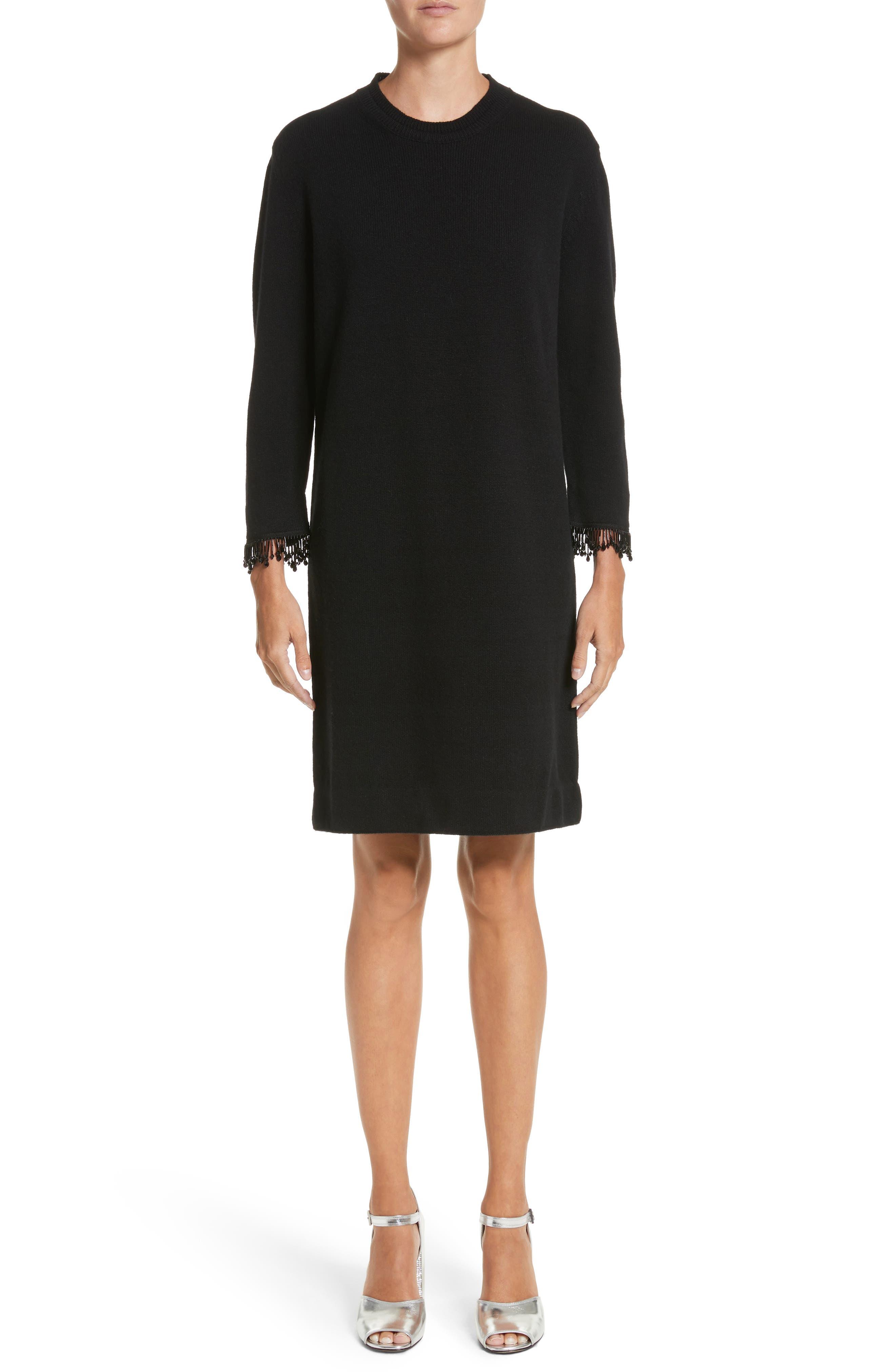Main Image - MARC JACOBS Beaded Fringe Wool & Cashmere Dress