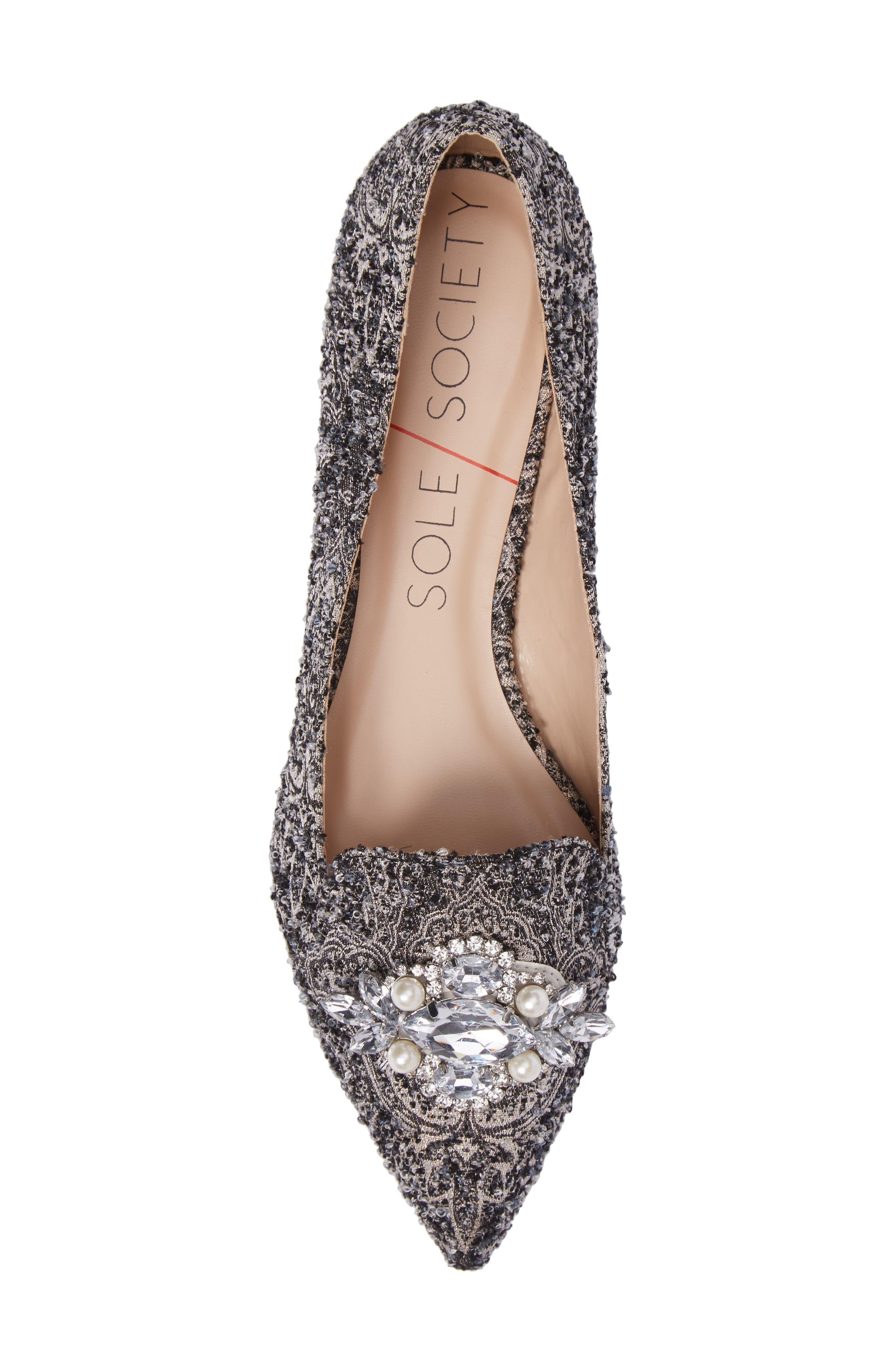 Alternate Image 5  - Sole Society Libry Crystal Embellished Flat (Women)