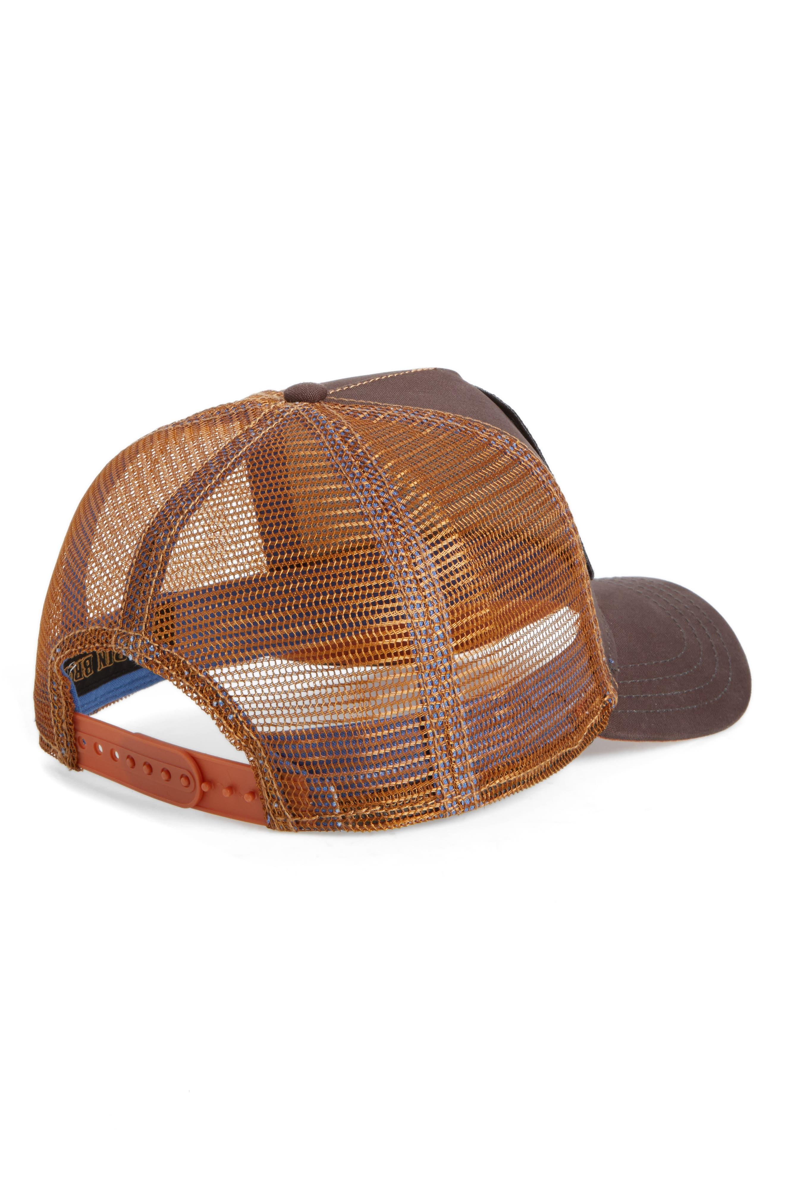Kangaroo Trucker Hat,                             Alternate thumbnail 2, color,                             Brown