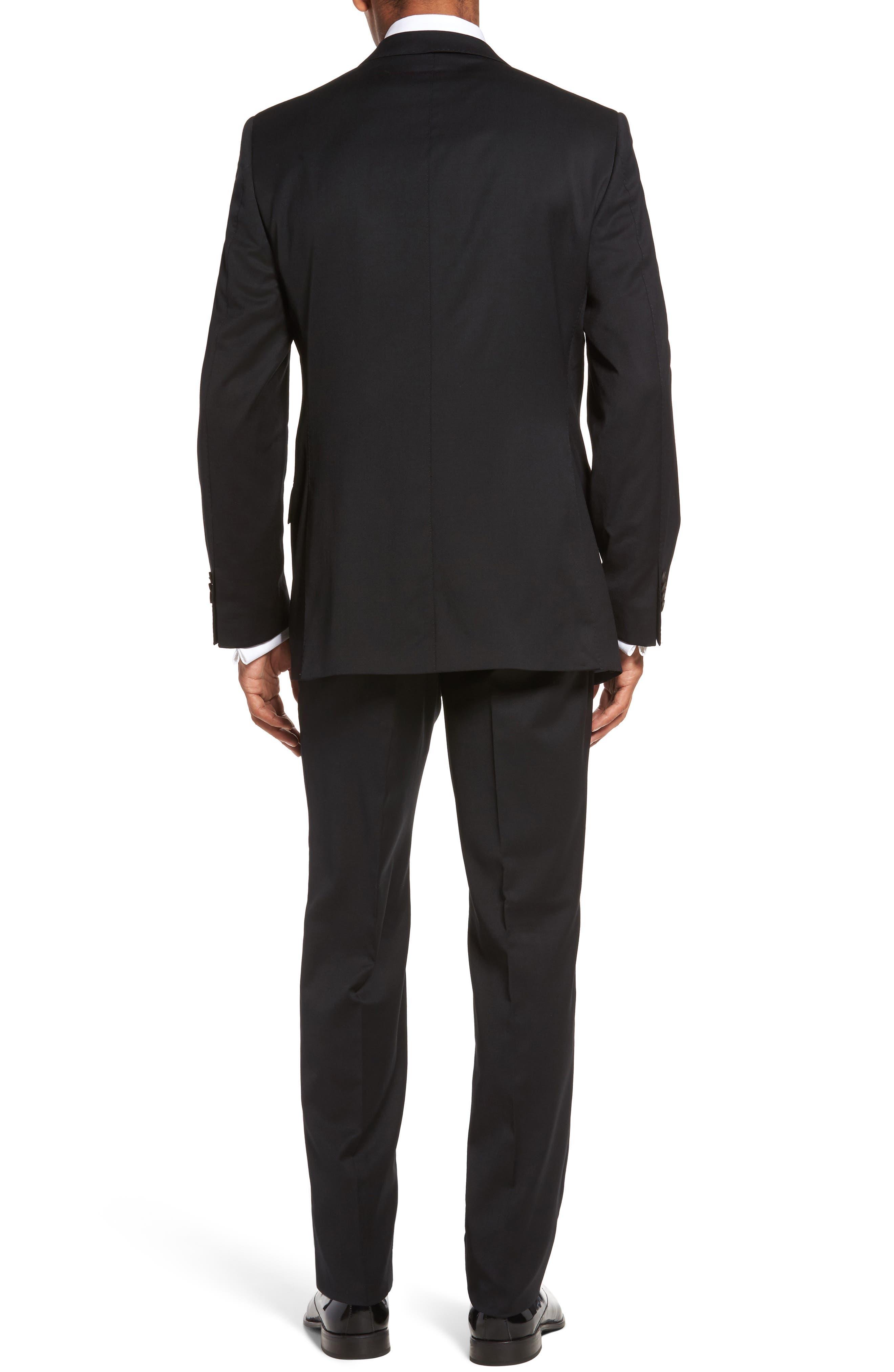 Keidis Aim Classic Fit Stretch Wool Suit,                             Alternate thumbnail 2, color,                             Black