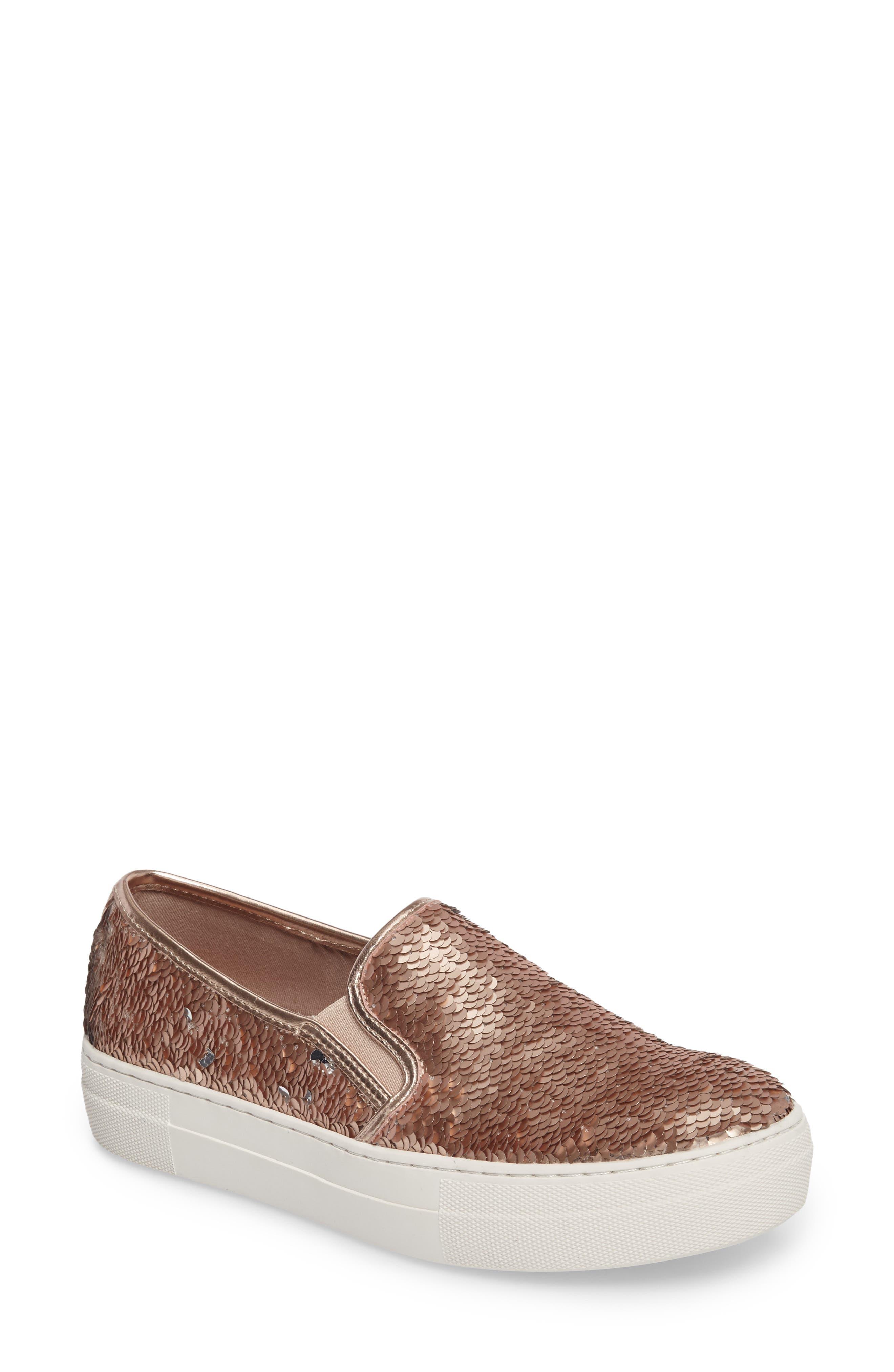 Steve Madden Gills Sequined Slip-On Platform Sneaker (Women)