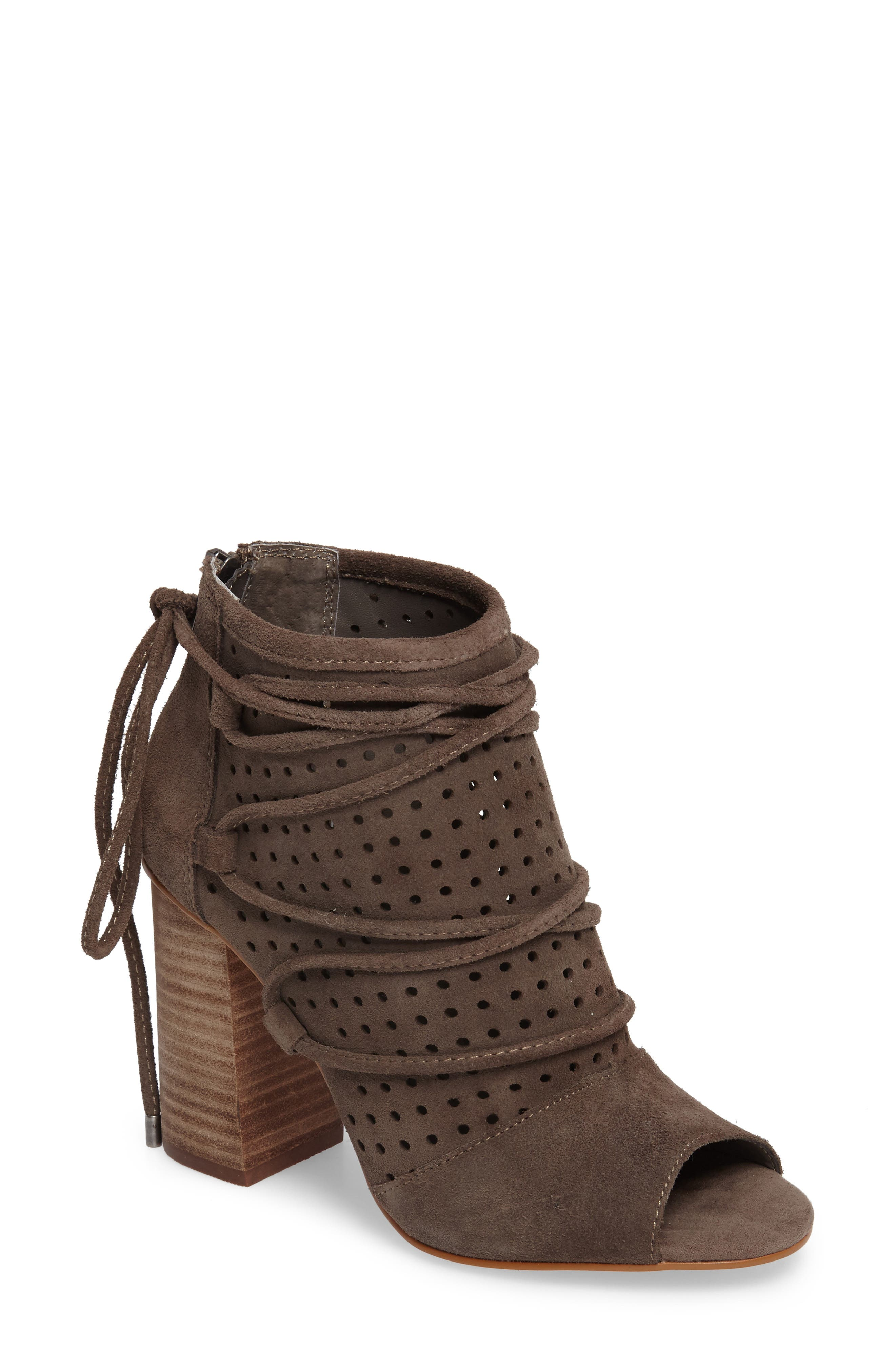 Very Volatile Kalio Perforated Open Toe Bootie (Women)