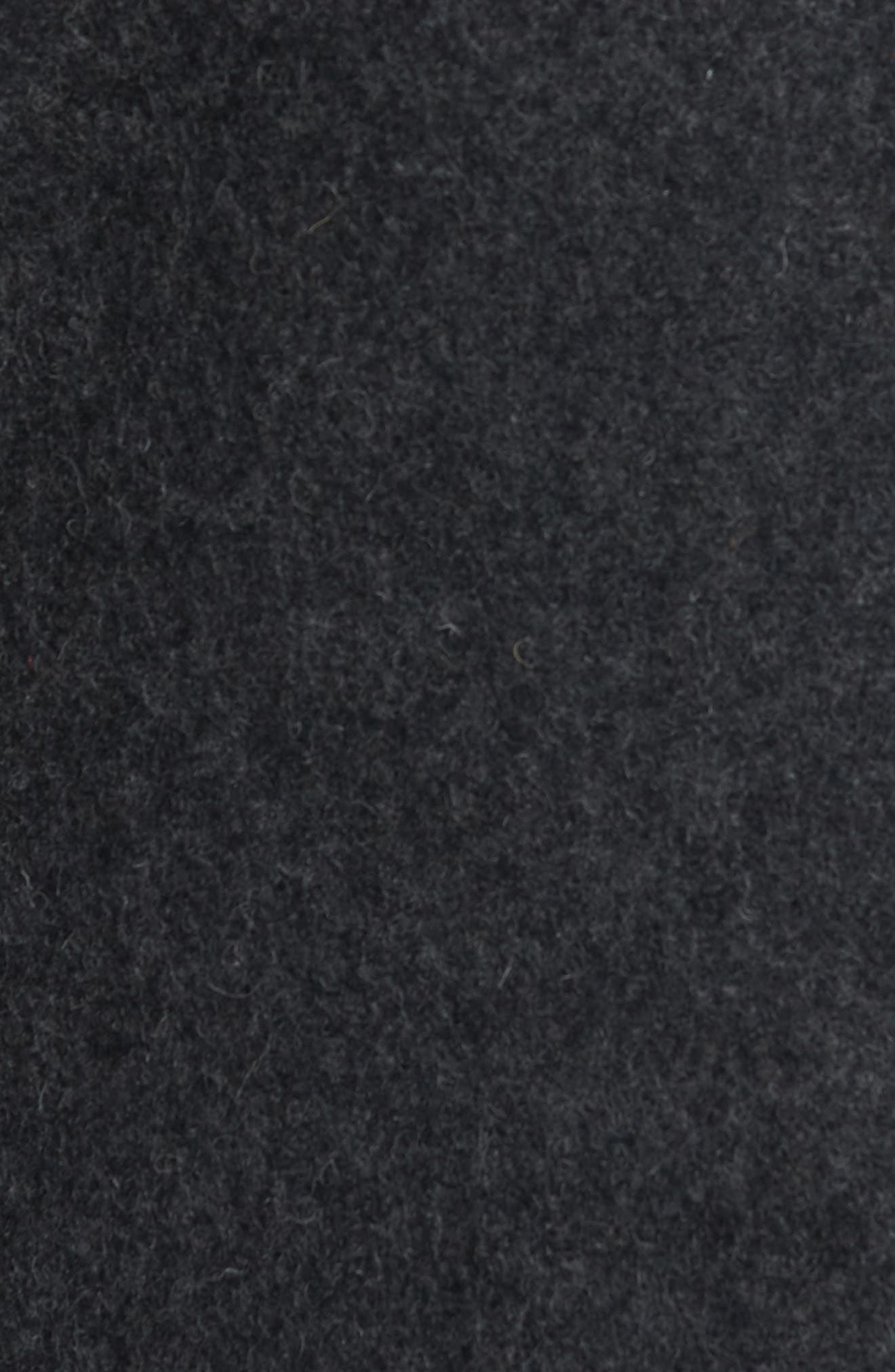 Alternate Image 5  - Schott NYC Slim Fit Melton Wool Blend Peacoat