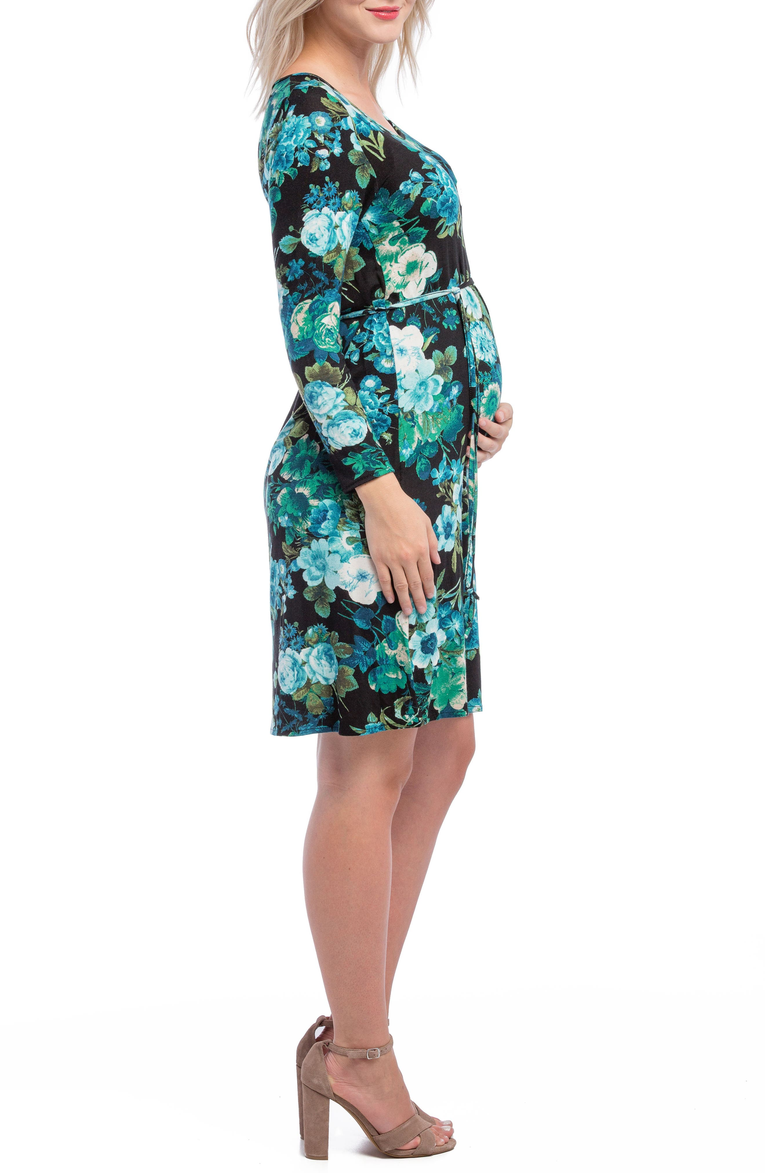 Alternate Image 3  - Lilac Clothing Print Maternity Shift Dress