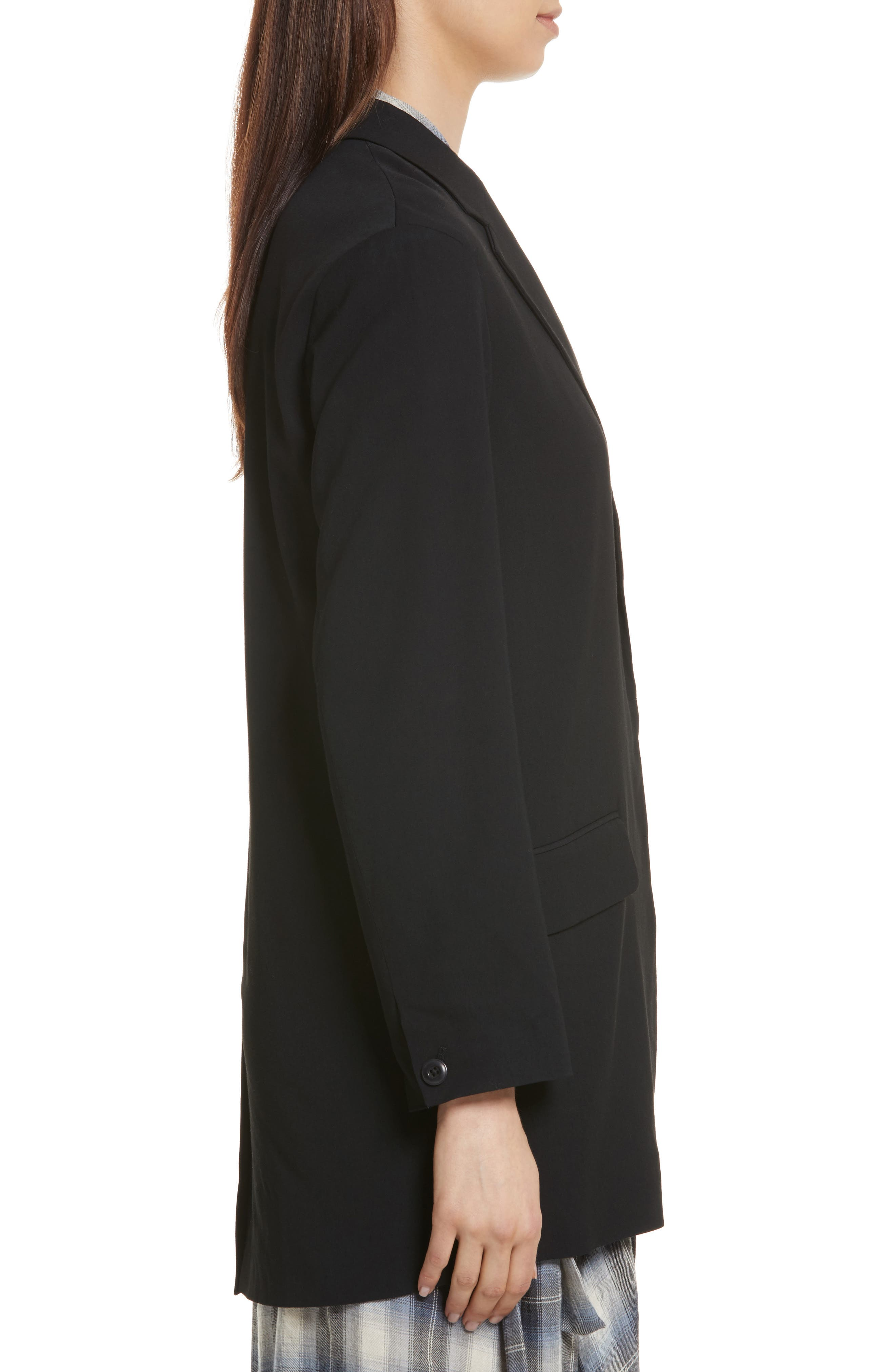 Soft Blazer,                             Alternate thumbnail 3, color,                             Black