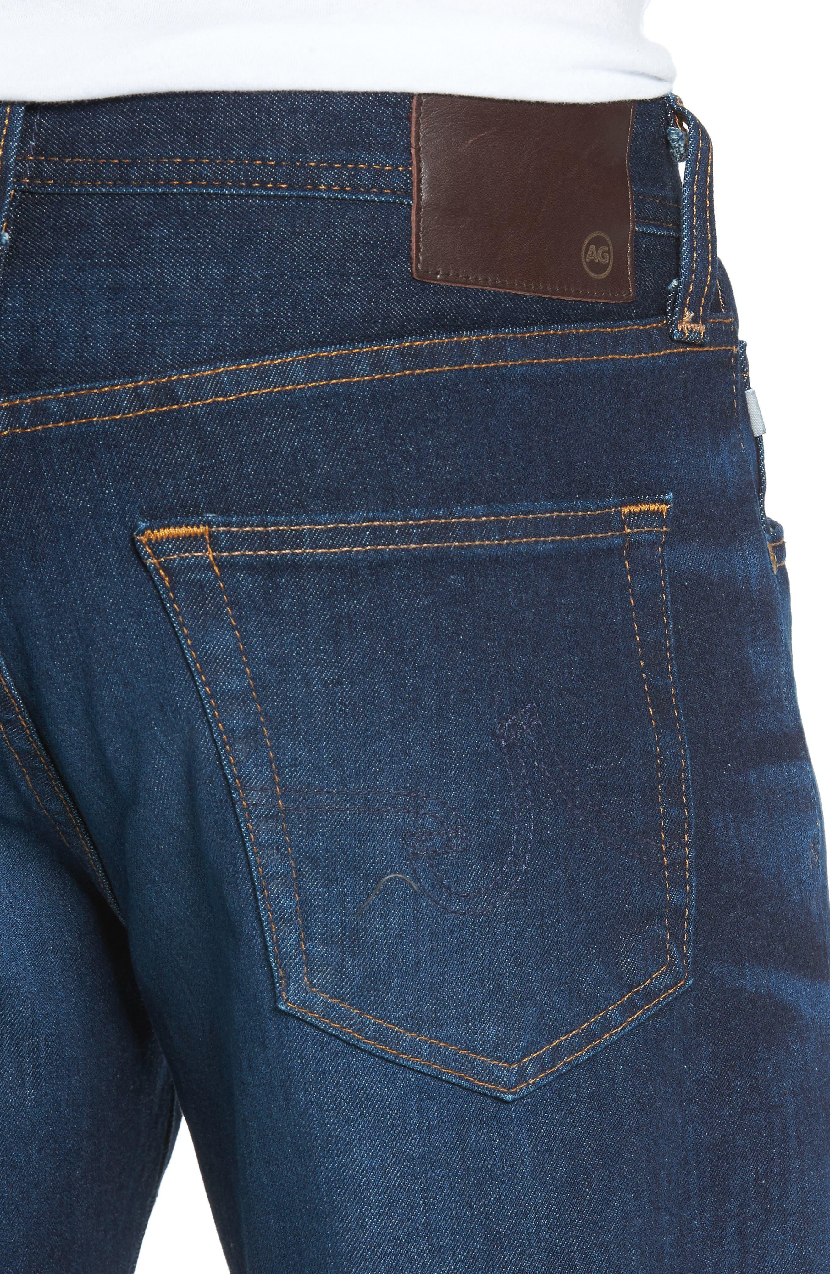 Alternate Image 4  - AG Graduate Slim Straight Fit Jeans (5 Years Porter)
