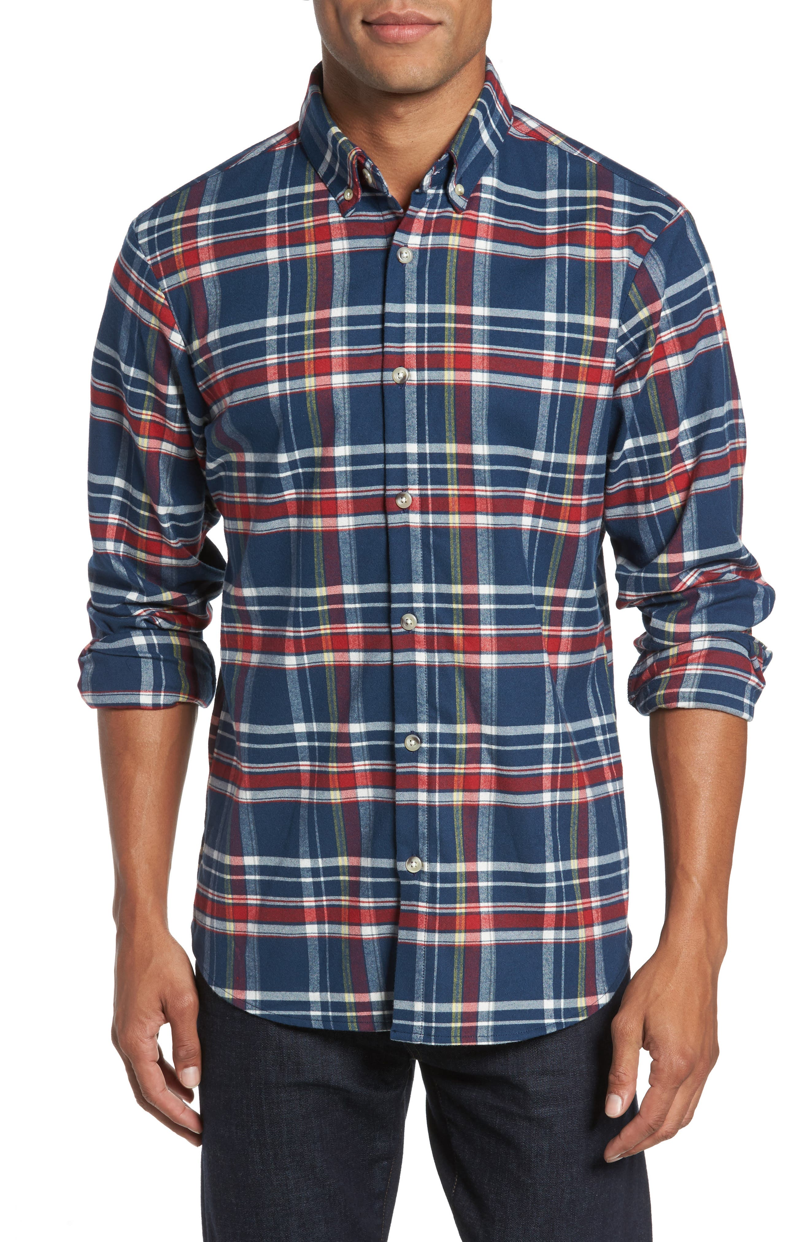 Mizzen+Main Redmond Slim Fit Multi Madras Flannel Shirt
