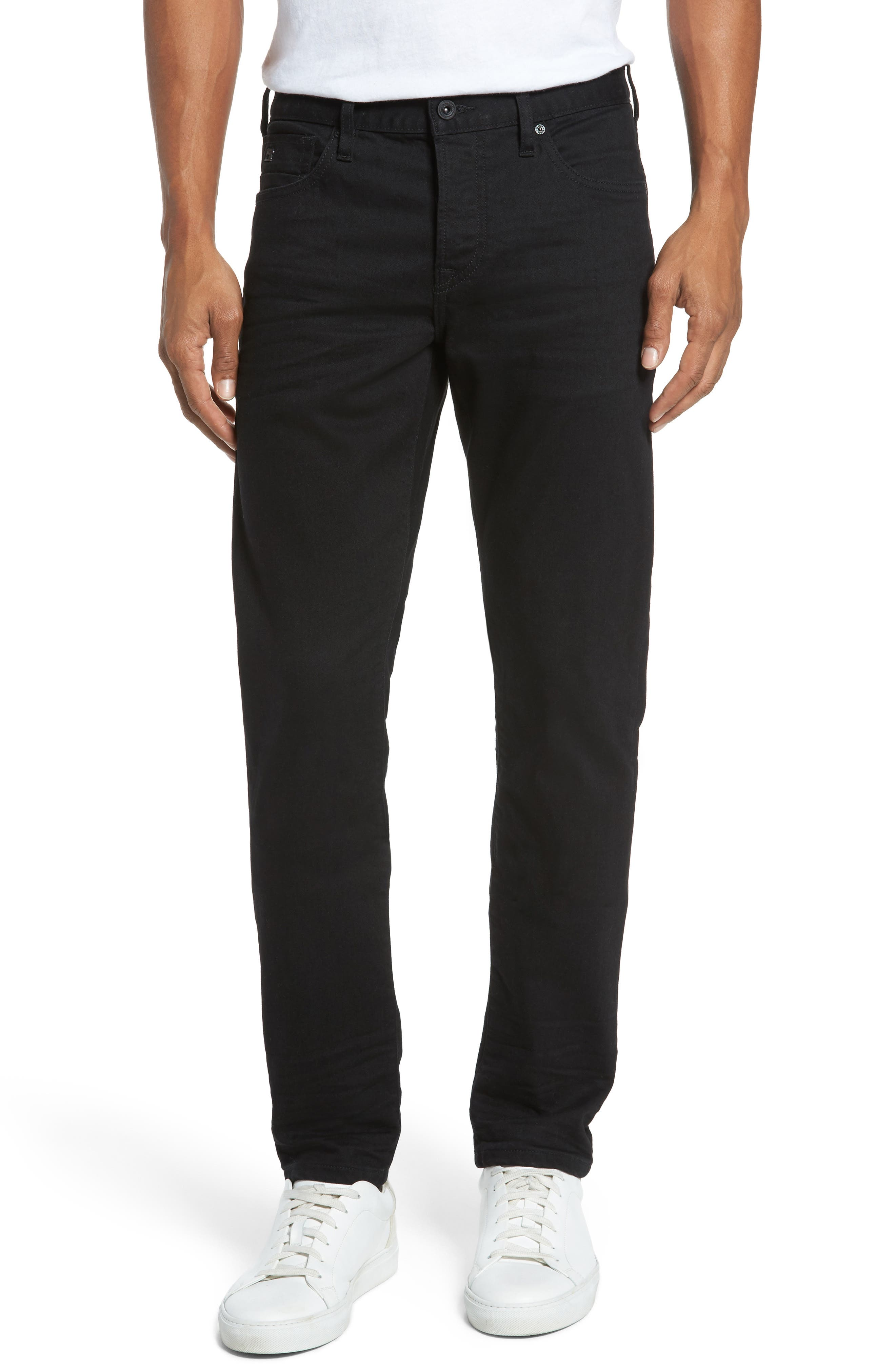 Alternate Image 1 Selected - Scotch & Soda Ralston Slim Straight Leg Jeans (Stay Black)
