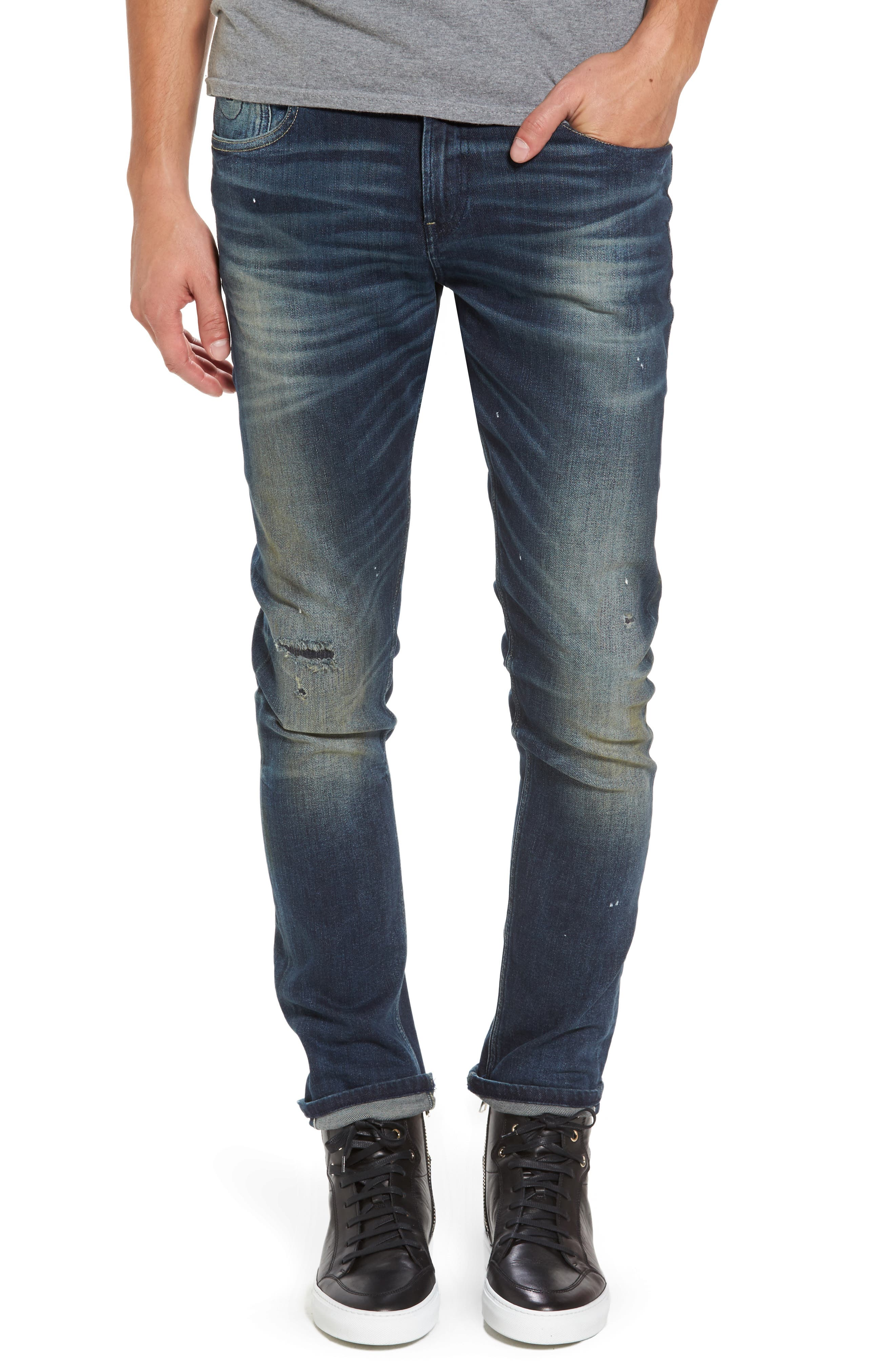 Lot 22 Slim Fit Jeans,                         Main,                         color, Going For Gold