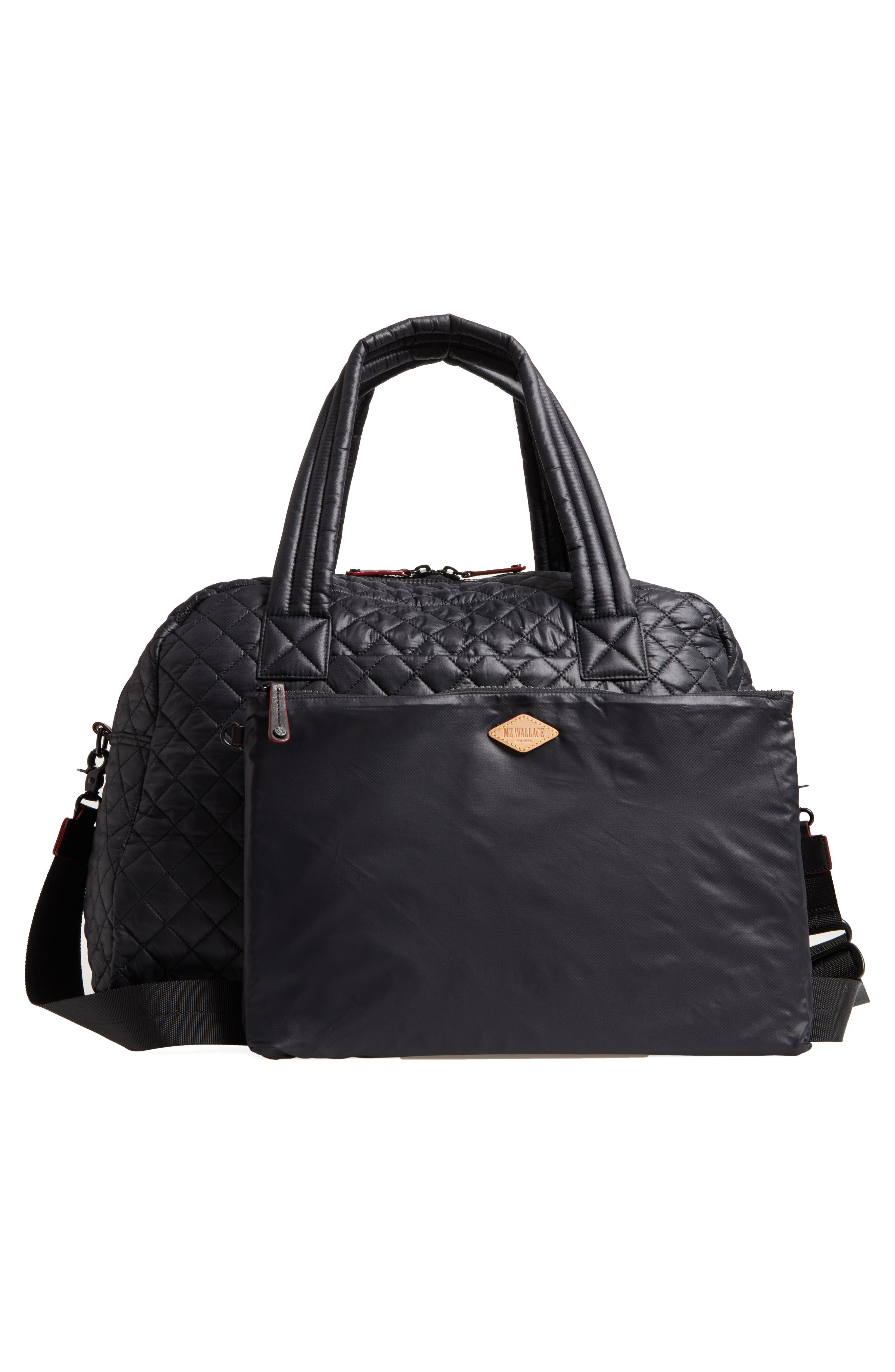 Alternate Image 2  - MZ Wallace Jim Quilted Nylon Duffel Bag